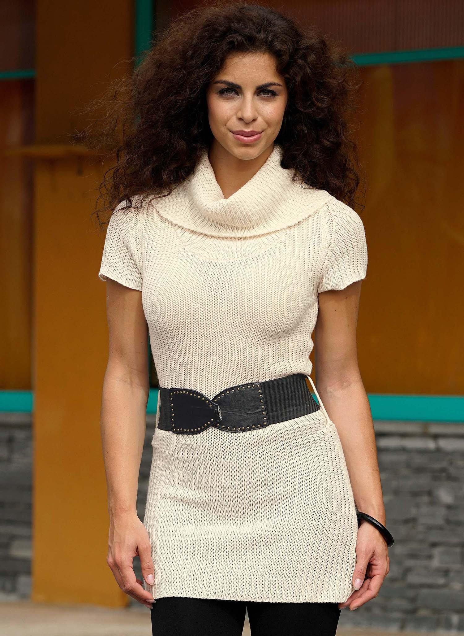 D-Vestito-maglia,cintura natur