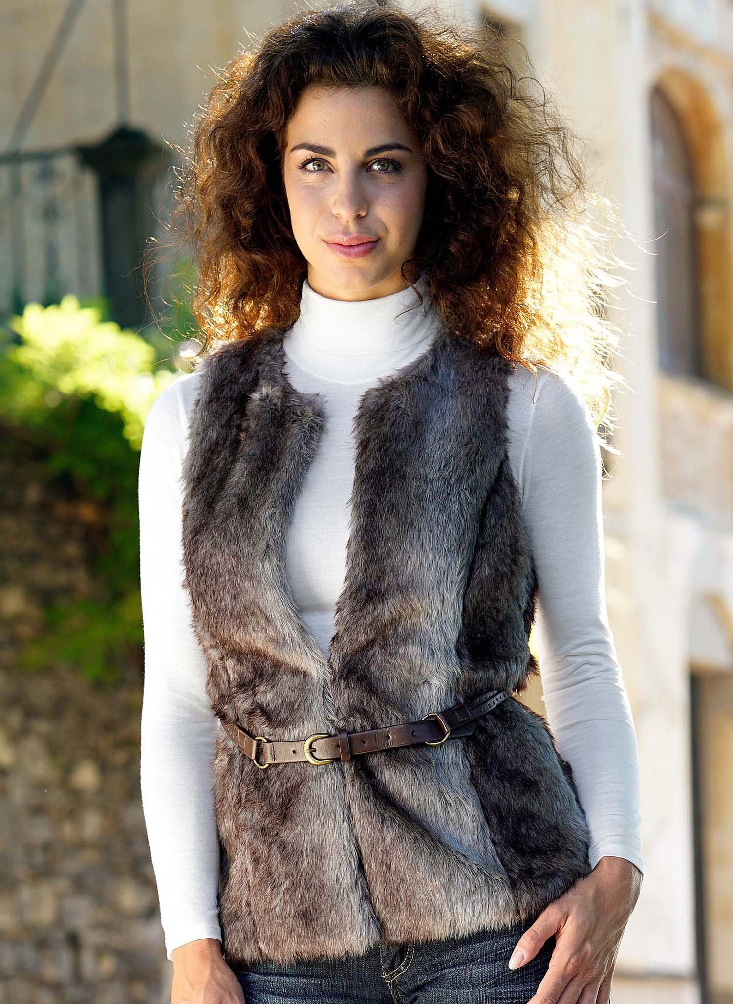 D-Long-Gilet,Imitat-Fell XL - 1 - Ronja.ch