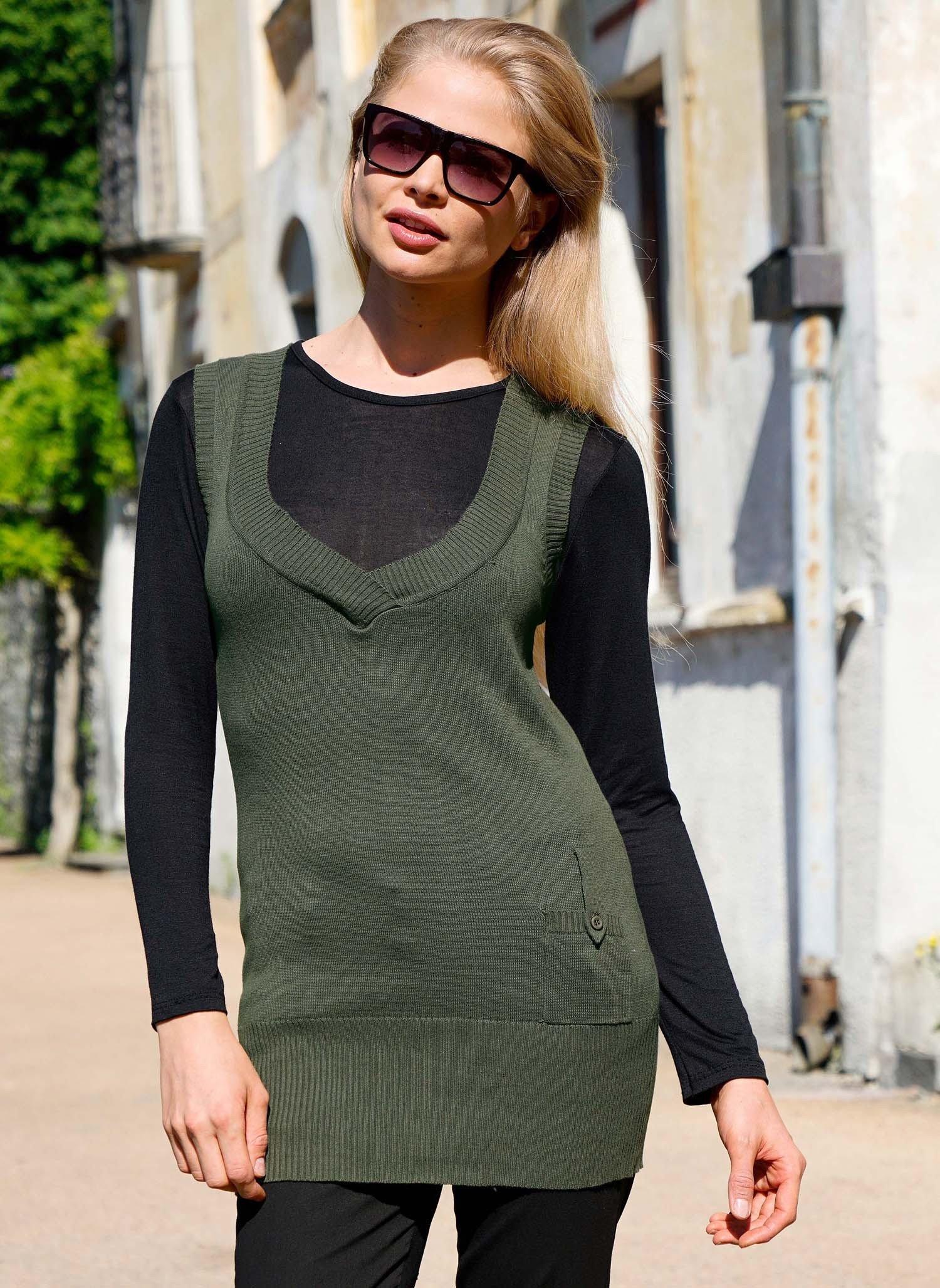 D-AL-Top-maglia,Tasca verde