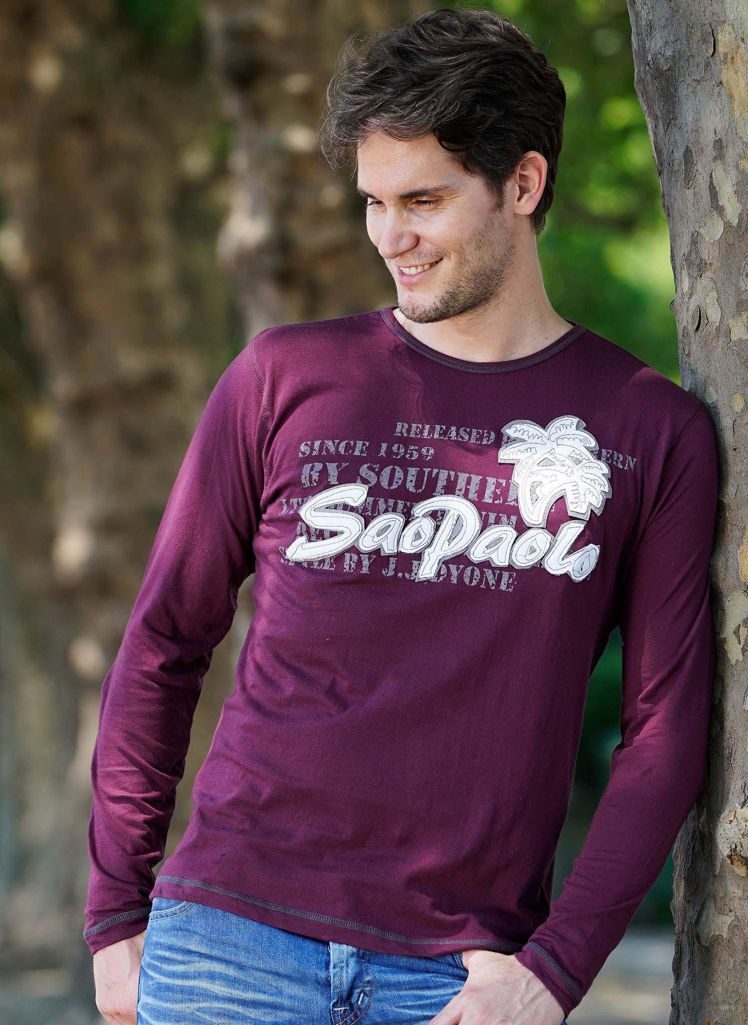 """H-LA-Shirt""""Sao Paulo""""bordeaux"""