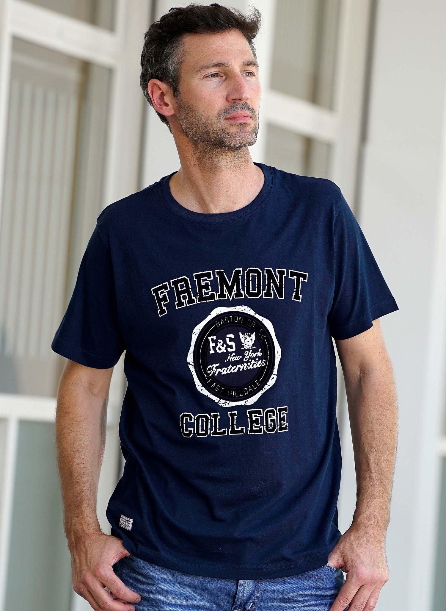 "H-KA-Shirt""COLLEGE"" marine"