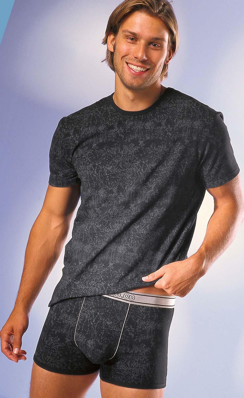 Shirt con maniche corte , col.grigio marmorizzato