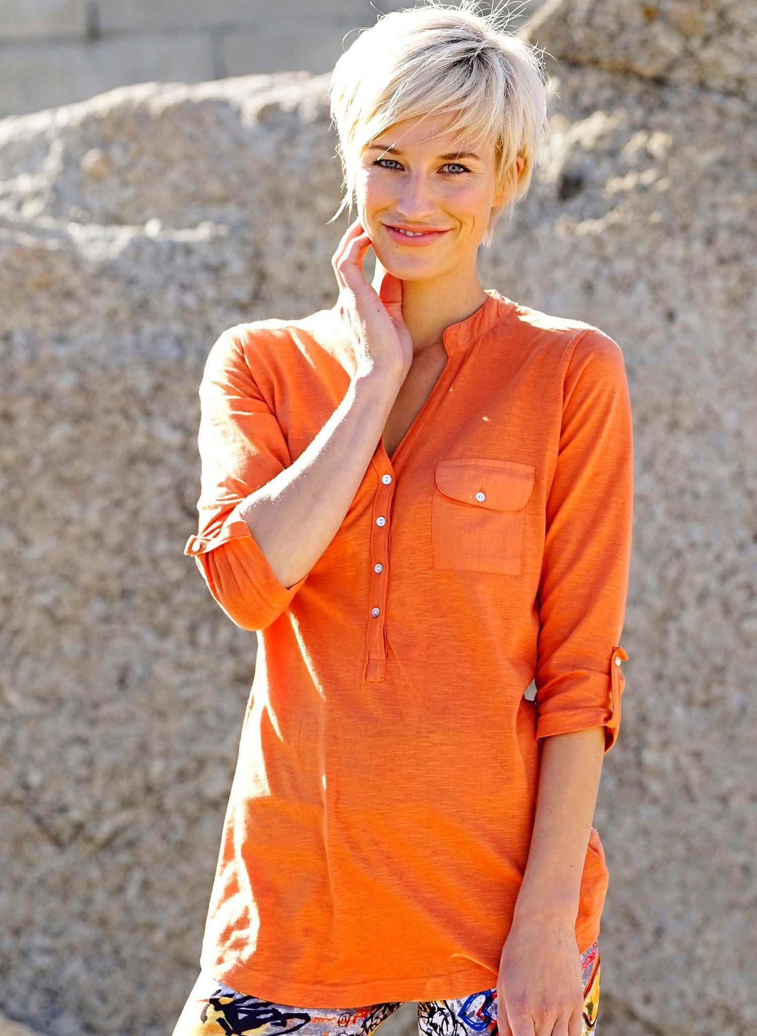 D-Long-Top,im.Ledergurt orange S 022 - 1 - Ronja.ch