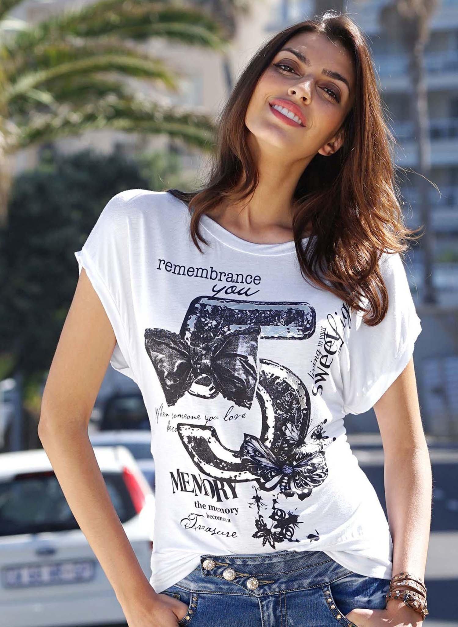"""D-KA-Shirt """"Nr.5"""" weiss L 001 - 1 - Ronja.ch"""