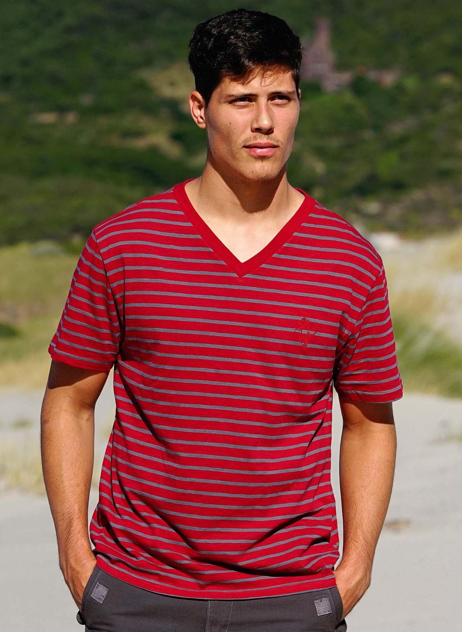 H-KA-Shirt,V-Auss rot/grau S 154 - 1 - Ronja.ch