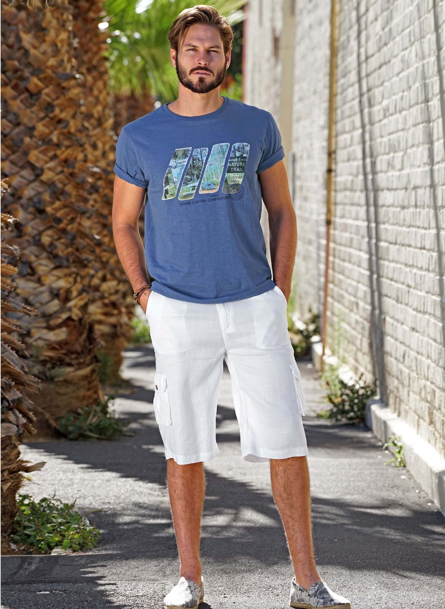 H-Leinen-Shorts weiss L 001 - 2 - Ronja.ch