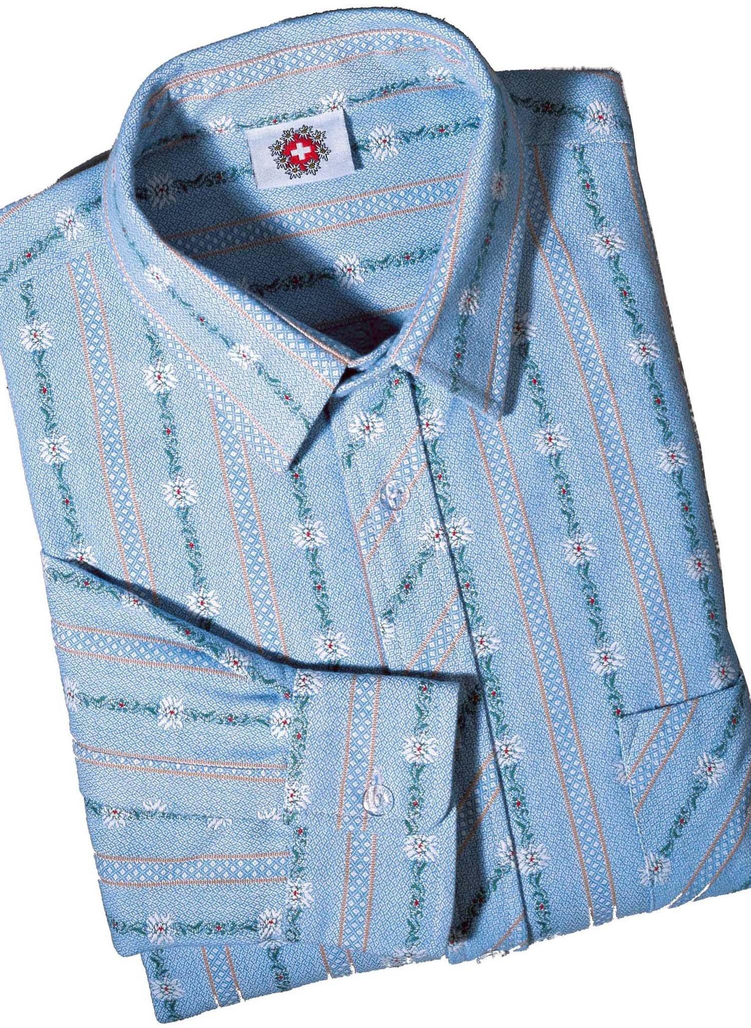H-LA-Edelweiss Hemd, h.blau 3738 162