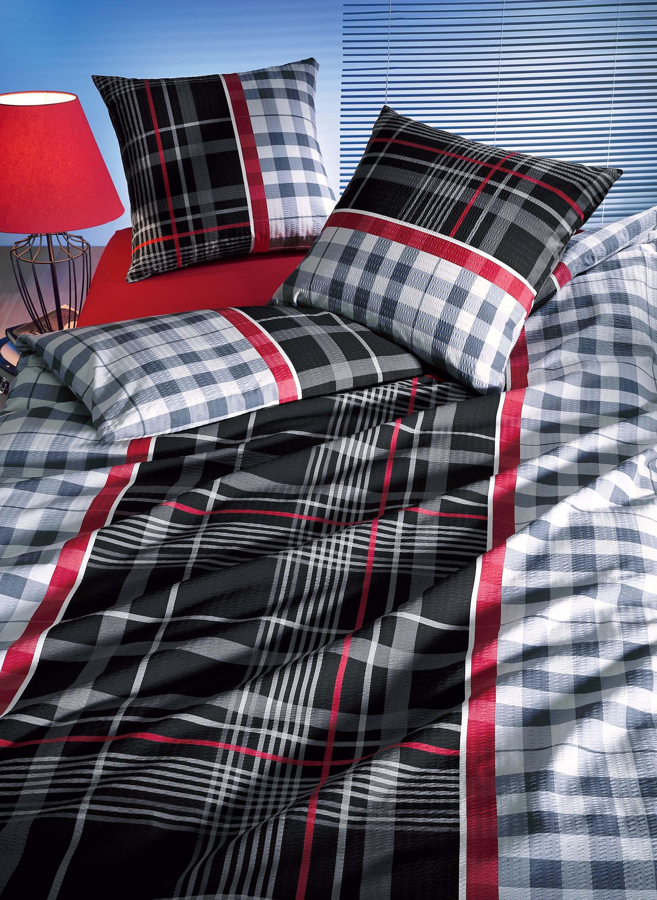 Biancheria da letto in seersucker «ANTONIO»