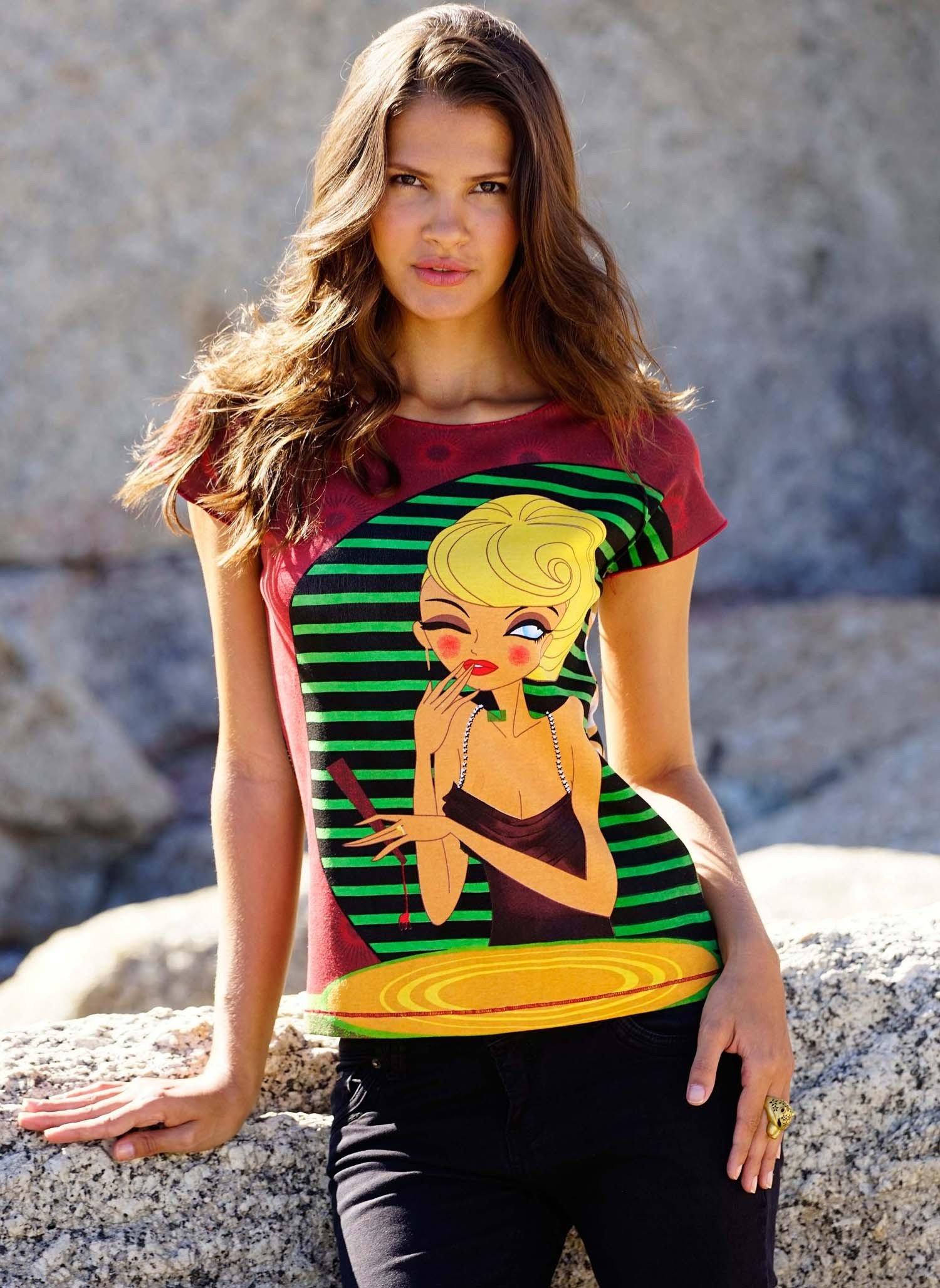 D-KA-Shirt,Blondine Multicolor L 058 - 1 - Ronja.ch
