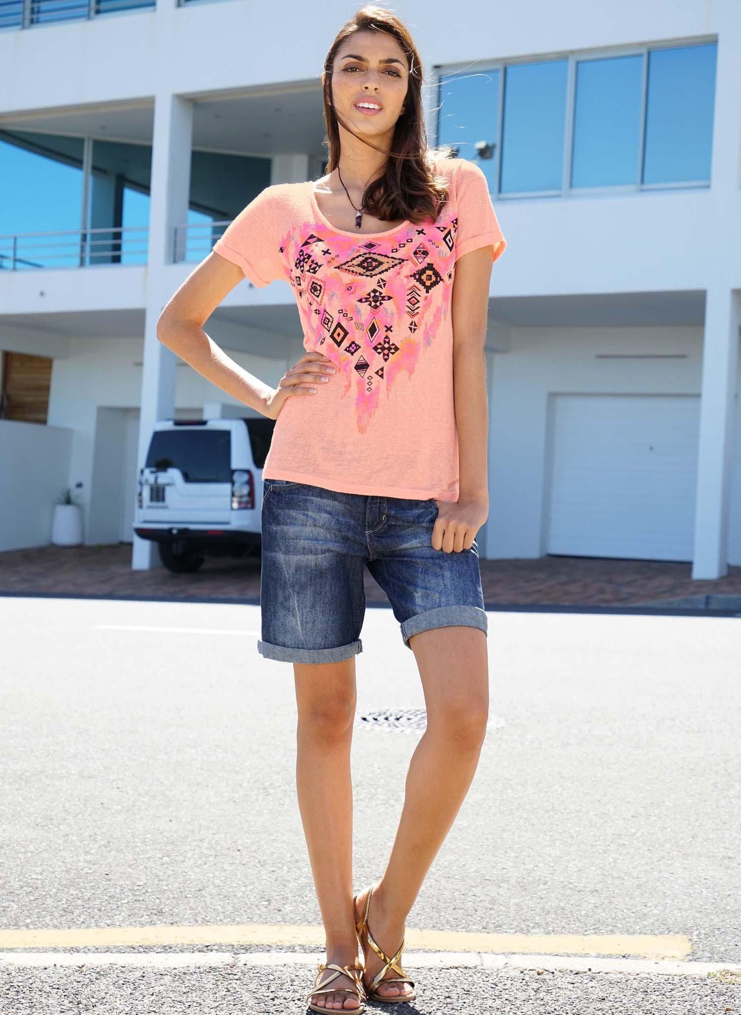 D-5-P-Jeans-Shorts Blue-D. 34 - 1 - Ronja.ch