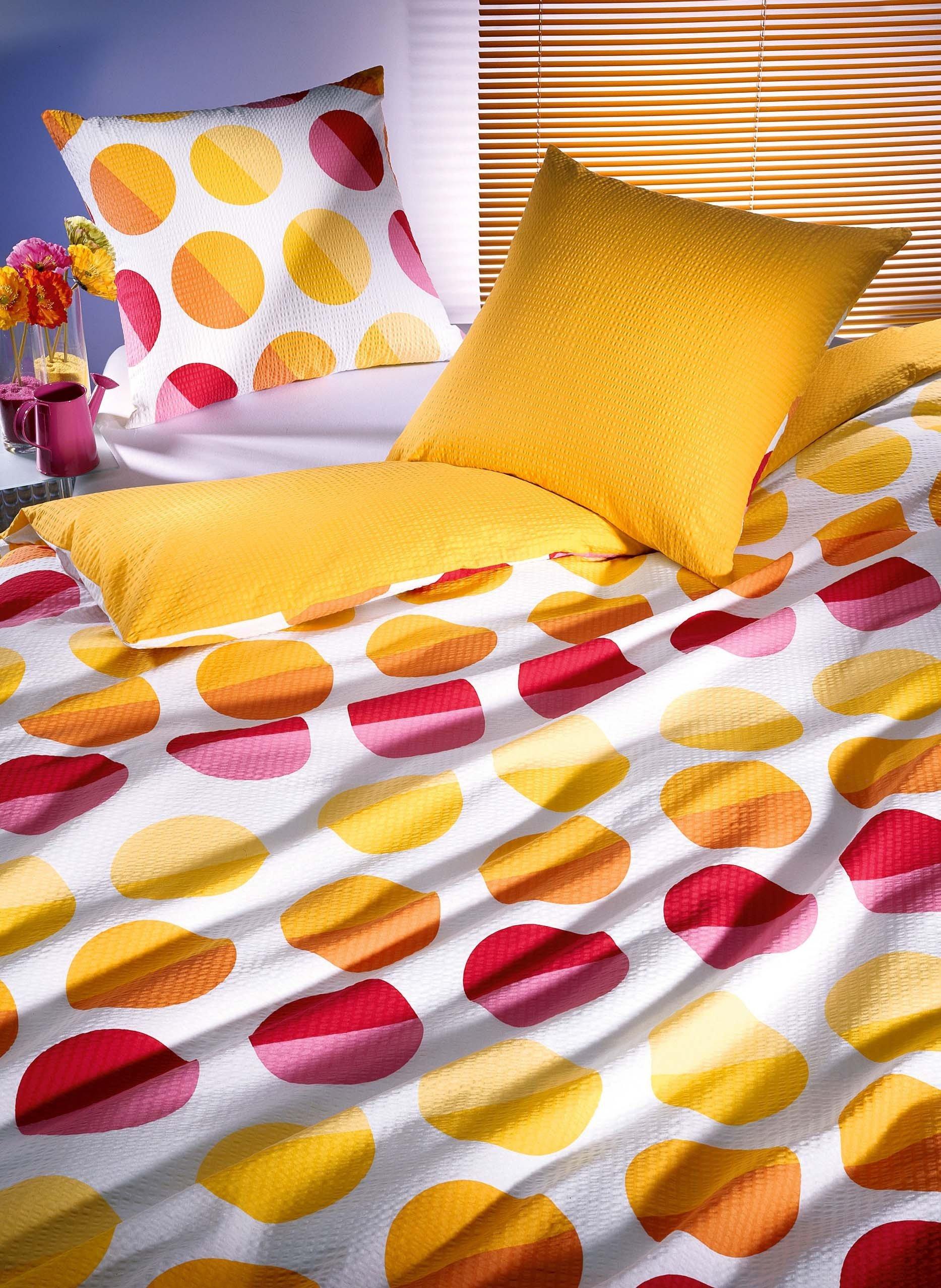 Biancheria da letto in seersucker «POP DOTS»