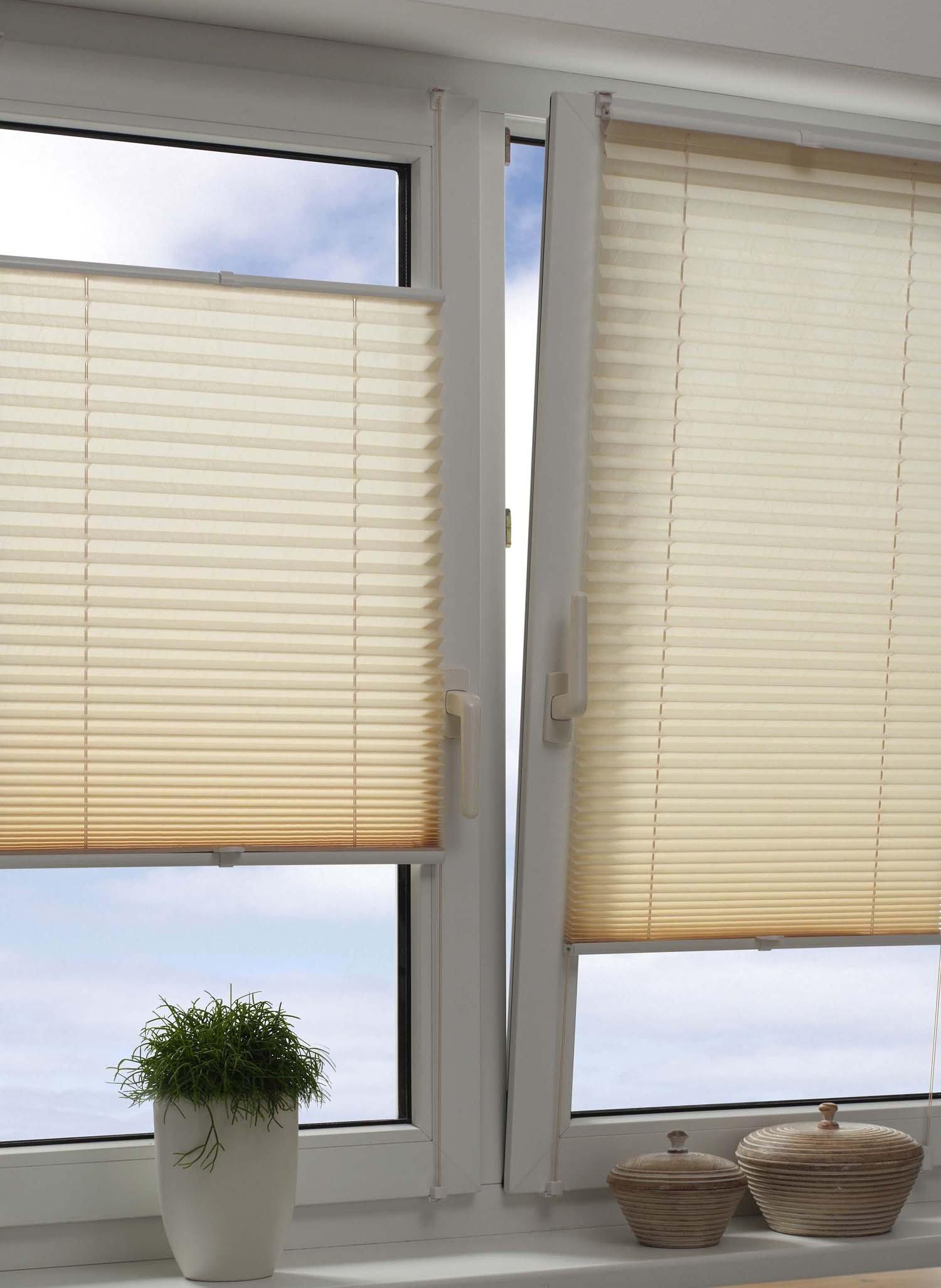 Easyfix Plisse bianco 40x130cm