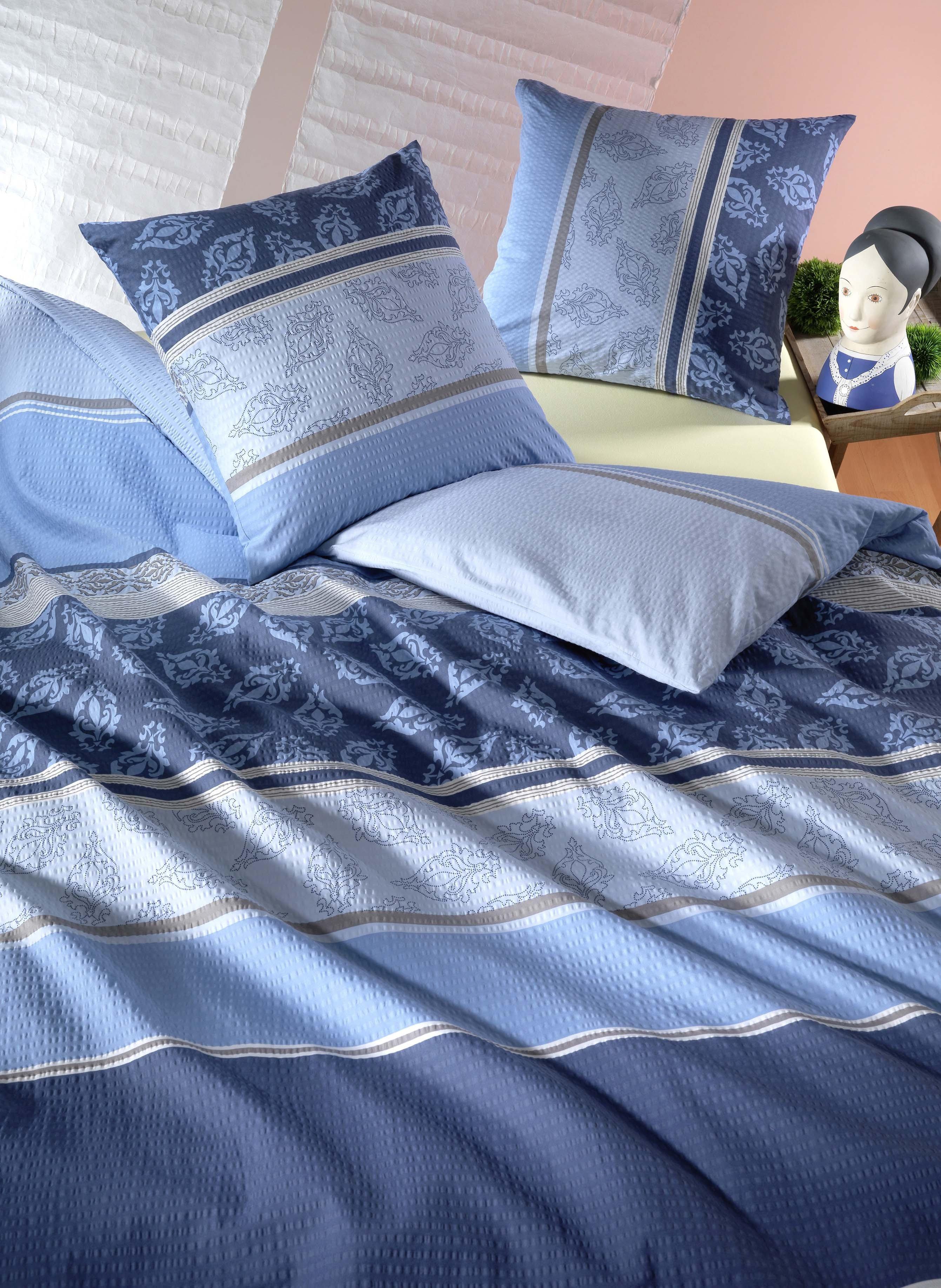 Biancheria da letto in seersucker  «YLENIA»