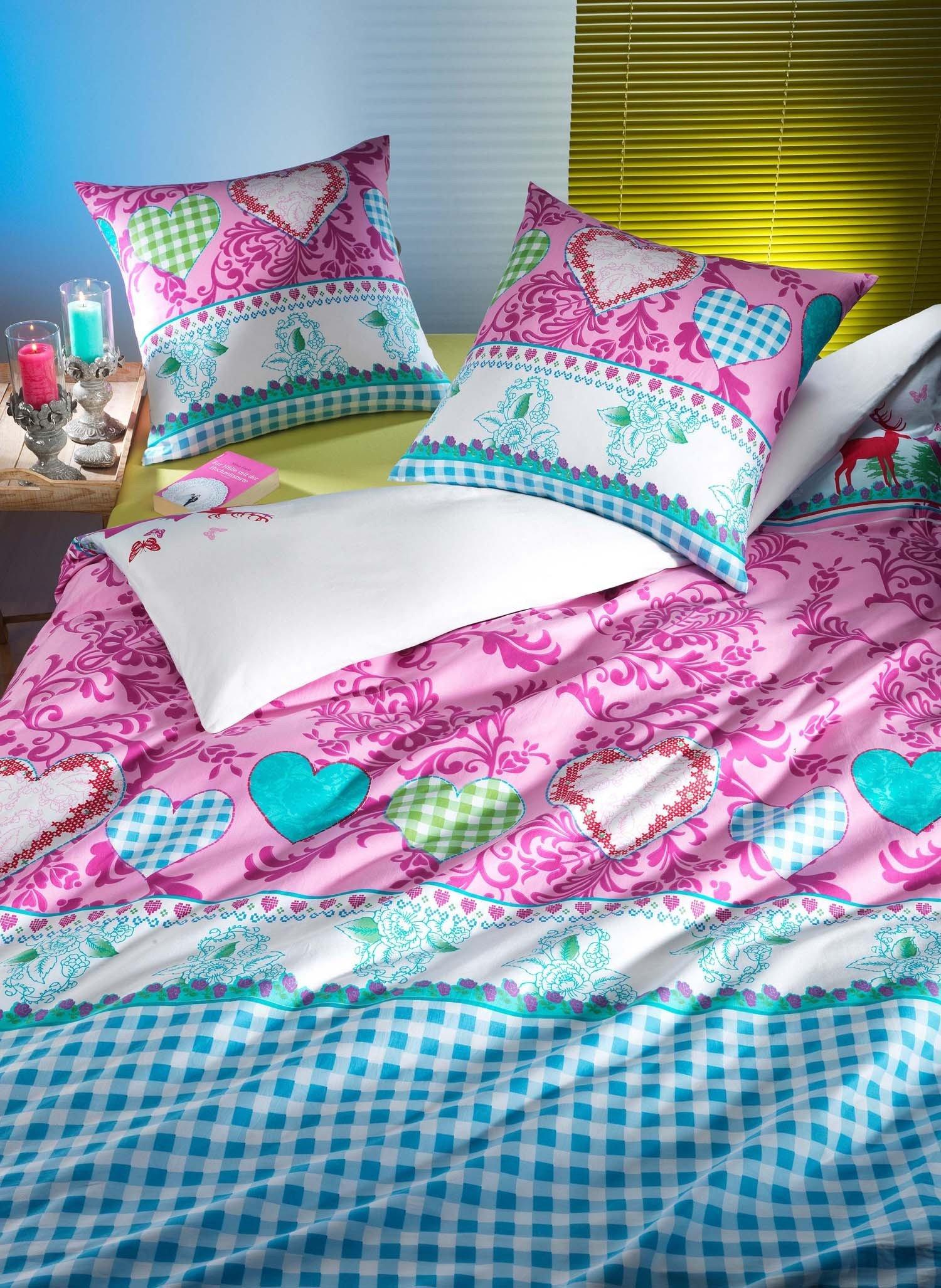 """Biancheria da letto in satin  """"WILDLOVE"""", rosa"""