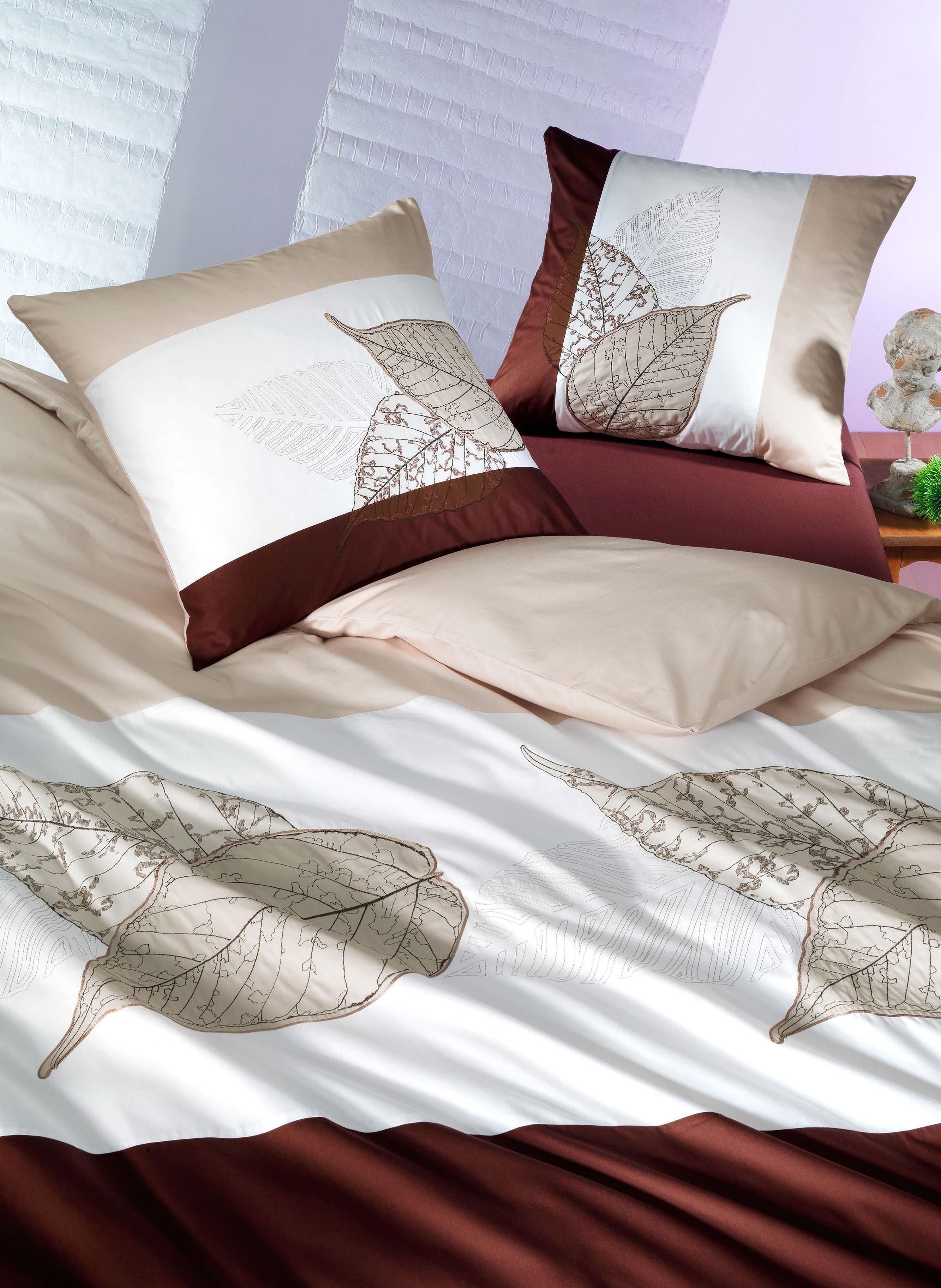 Biancheria da letto in satin  «FOGLIA»