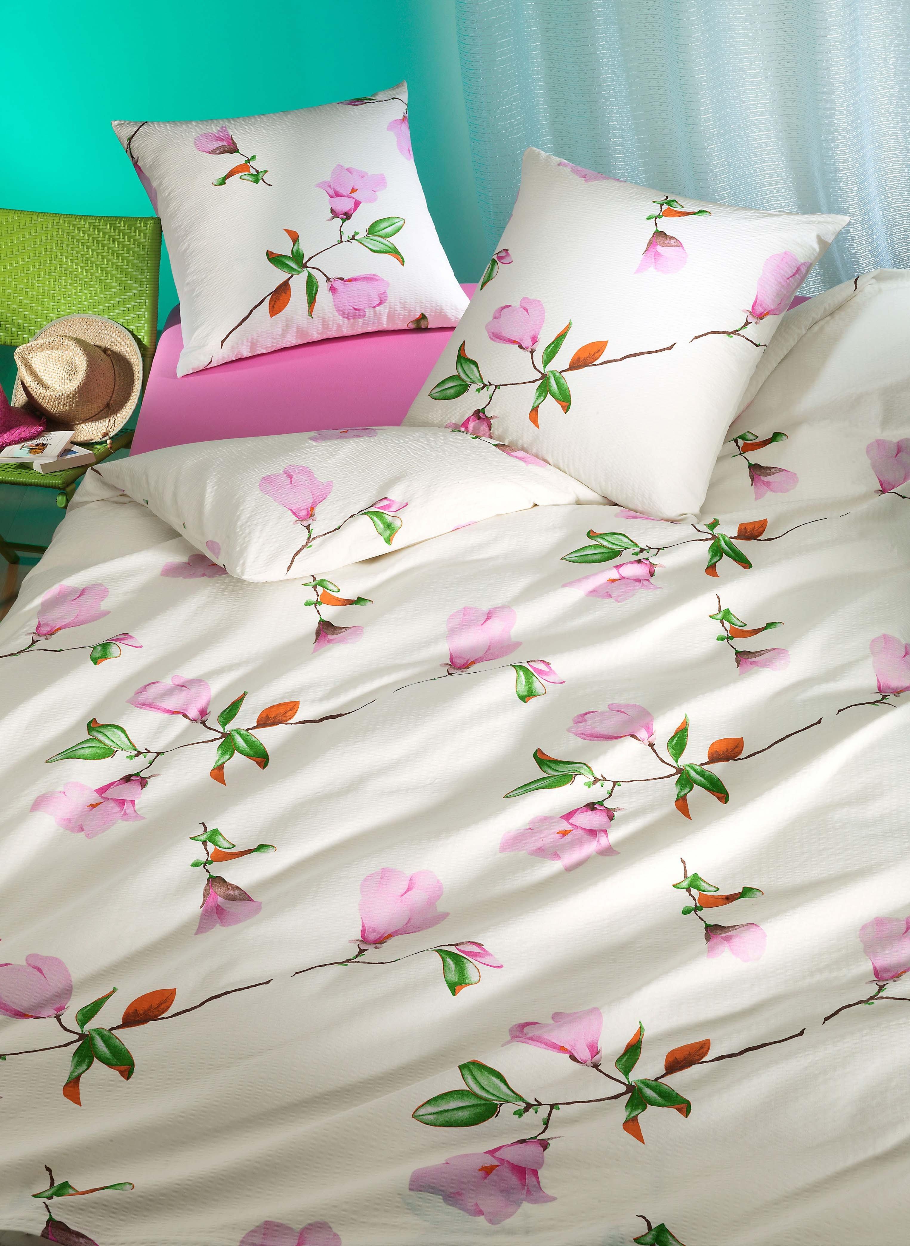 Biancheria da letto in seersucker  «MAGNOLIA»