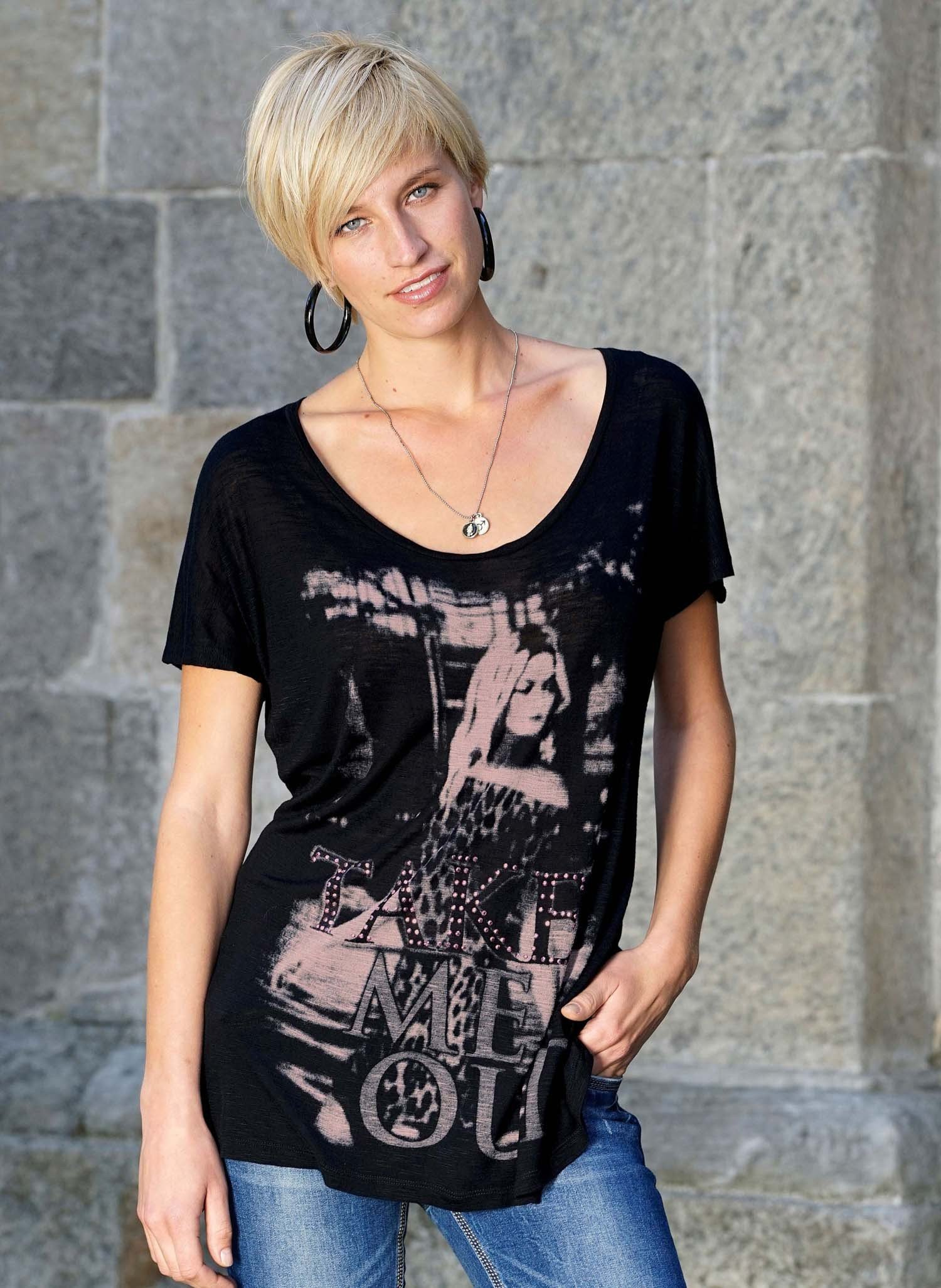 "D-KA-Shirt""Take me Out""schwarz L 010 - 1 - Ronja.ch"