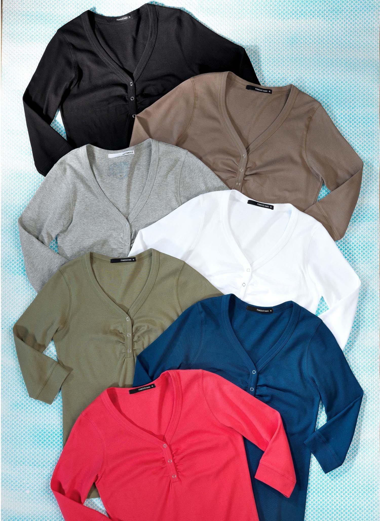 D-3/4-Arm-Shirt,Baumw.schwarz L 010 - 2 - Ronja.ch