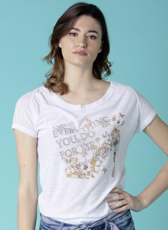 Shirt , motivo dorato