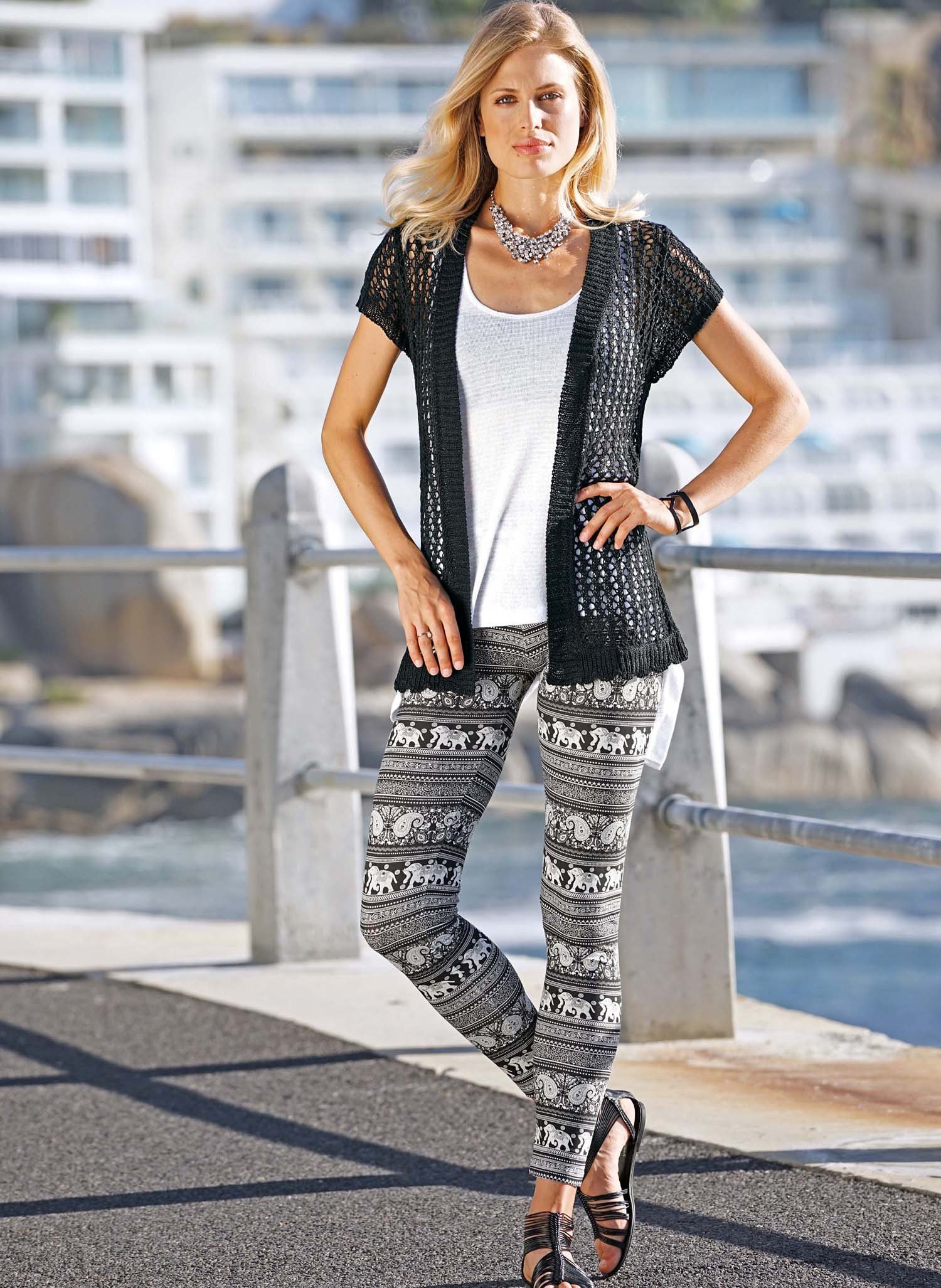 D-Leggings,Elefant schw/weiss L - 1 - Ronja.ch