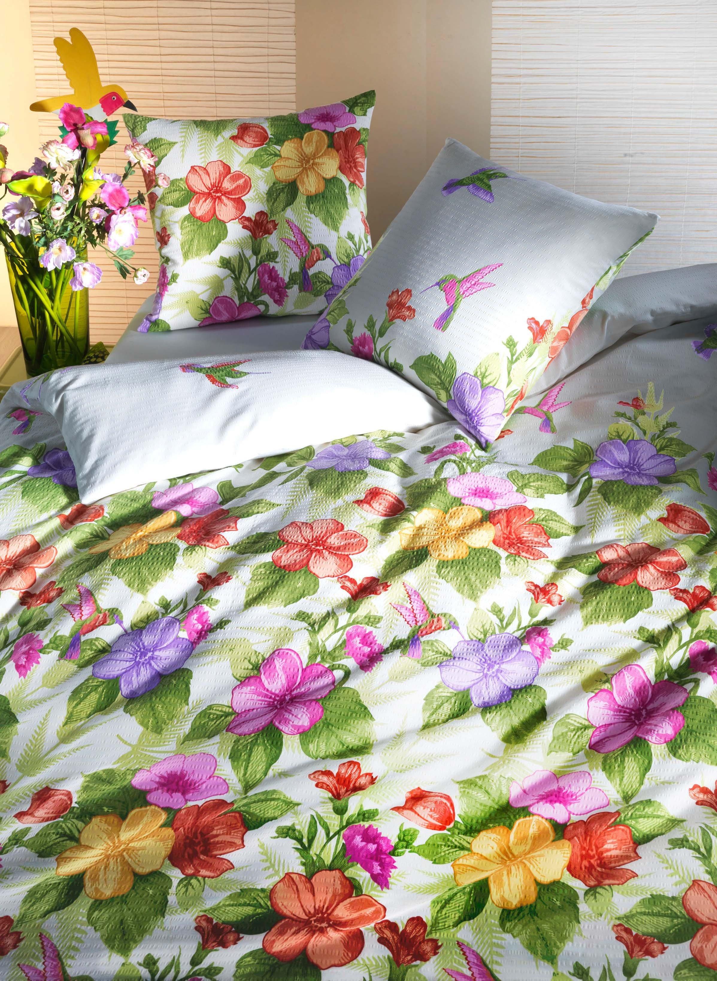 Biancheria da letto in seersucker «PARADIS»