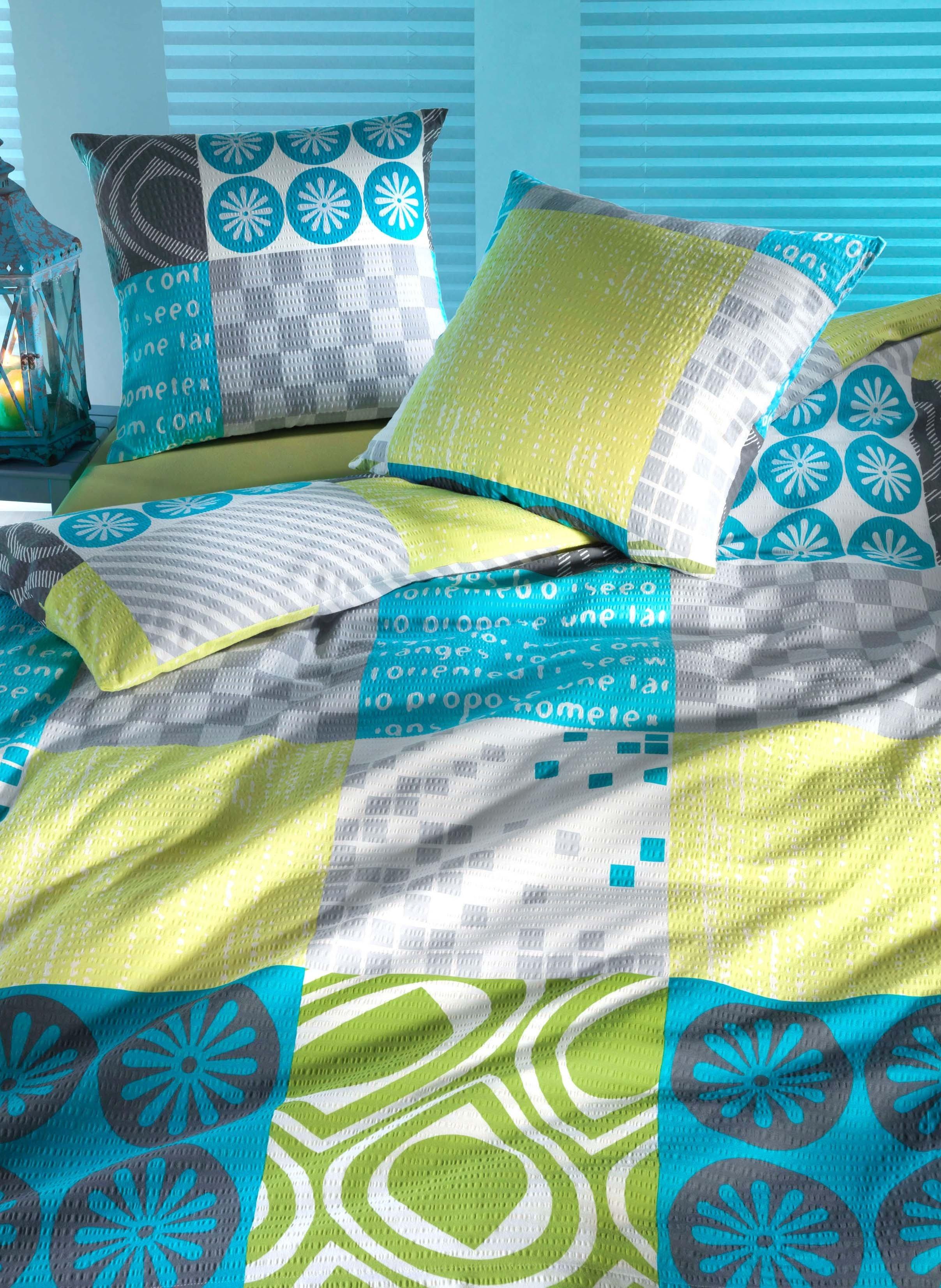 Biancheria da letto in Seersucker «OSLO»