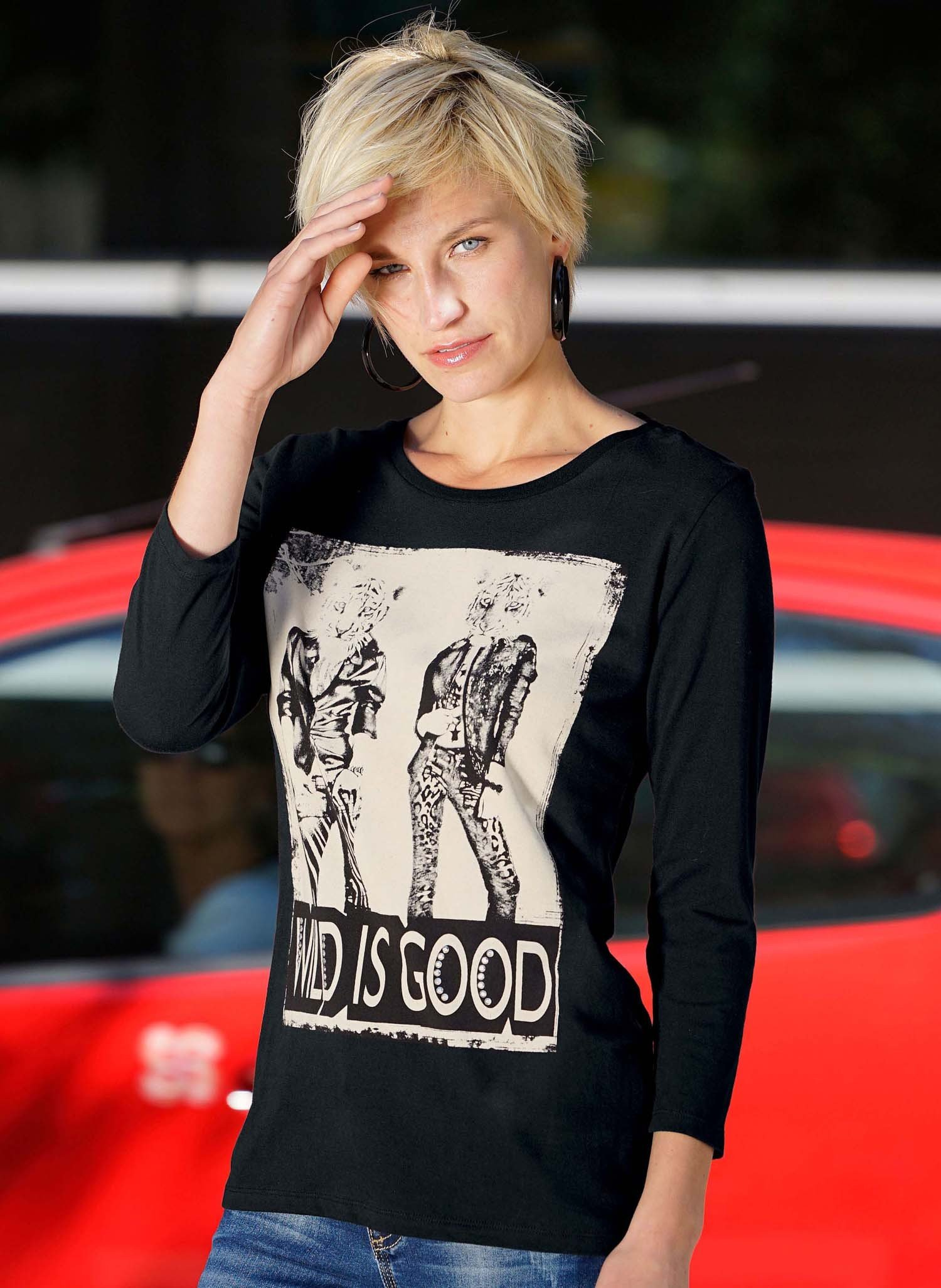 "D-Shirt""Wild is Good""schw/écru L 403 - 1 - Ronja.ch"