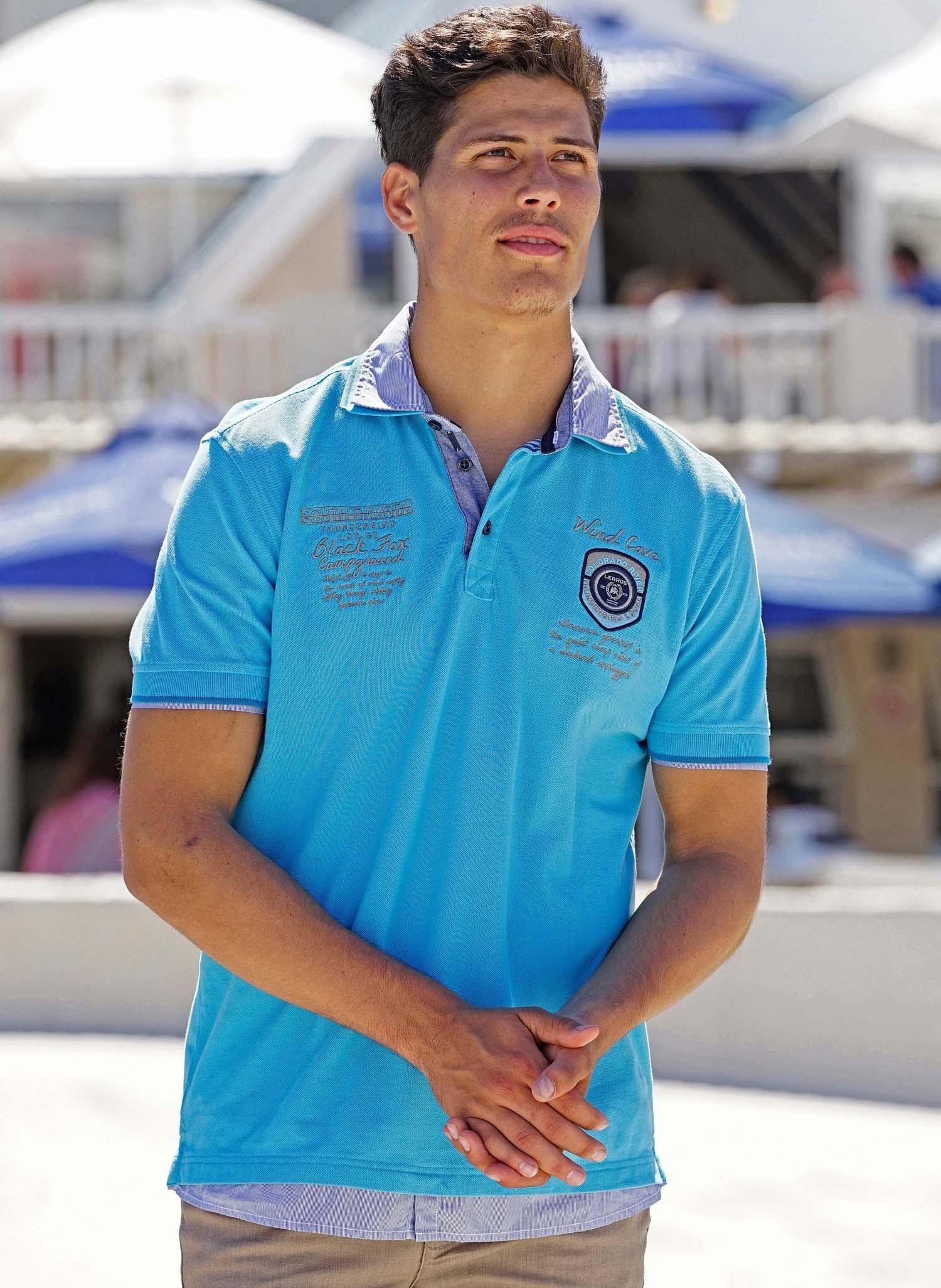 H-KA-Polo-Shirt,Doppelkr.türk. M 069 - 1 - Ronja.ch