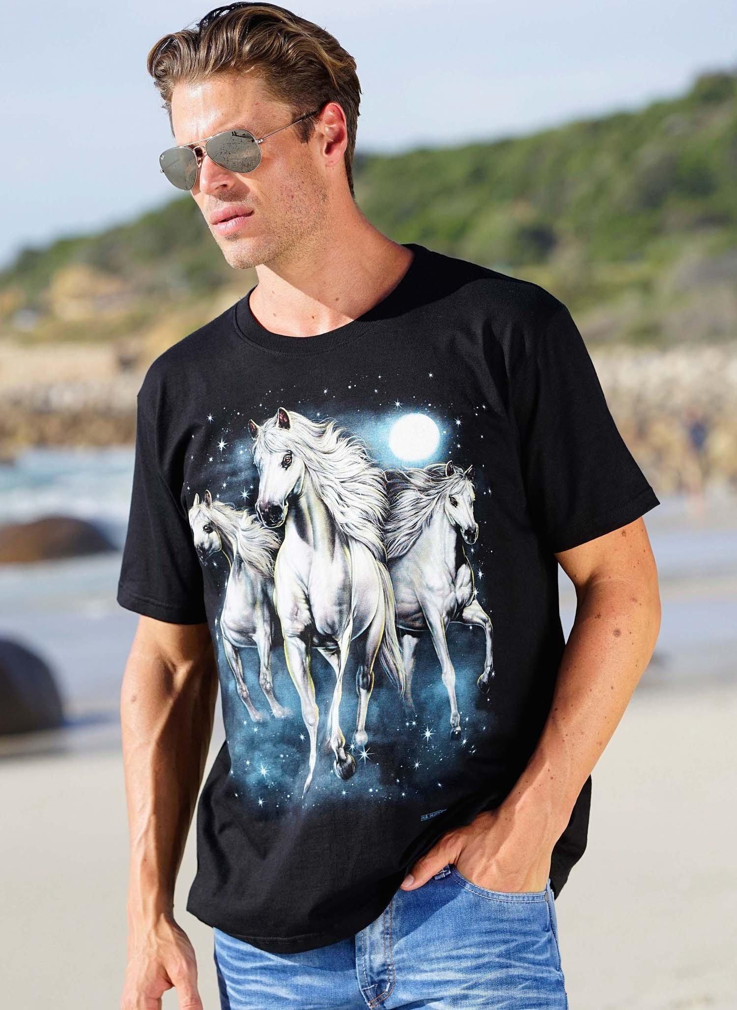 H-KA-Shirt,Print Pferde L 010 - 1 - Ronja.ch