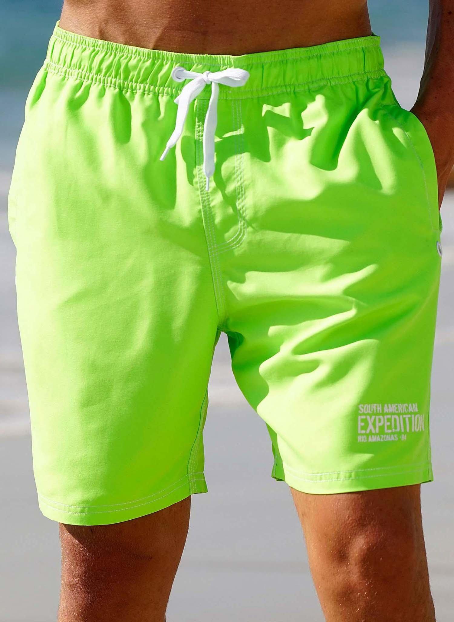 H-Bade-Shorts,NEON grün S 059 - 1 - Ronja.ch