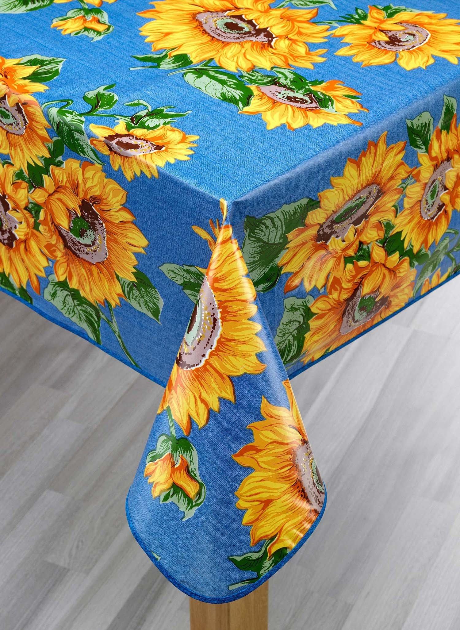 Tisch.Sonnenblume.blau 140x180 - 3 - Ronja.ch