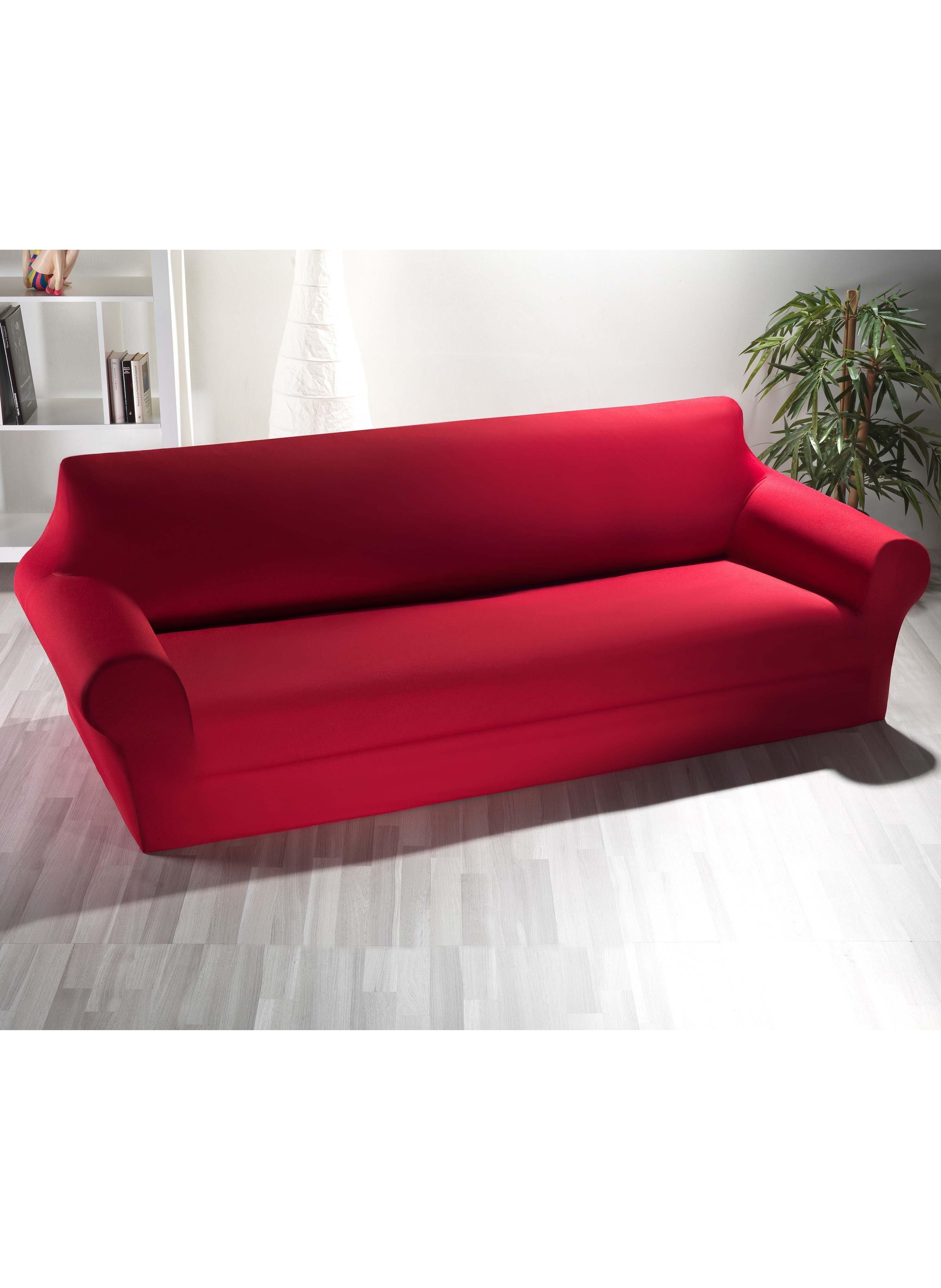 Schonbezug,3er-Sofa bordeaux