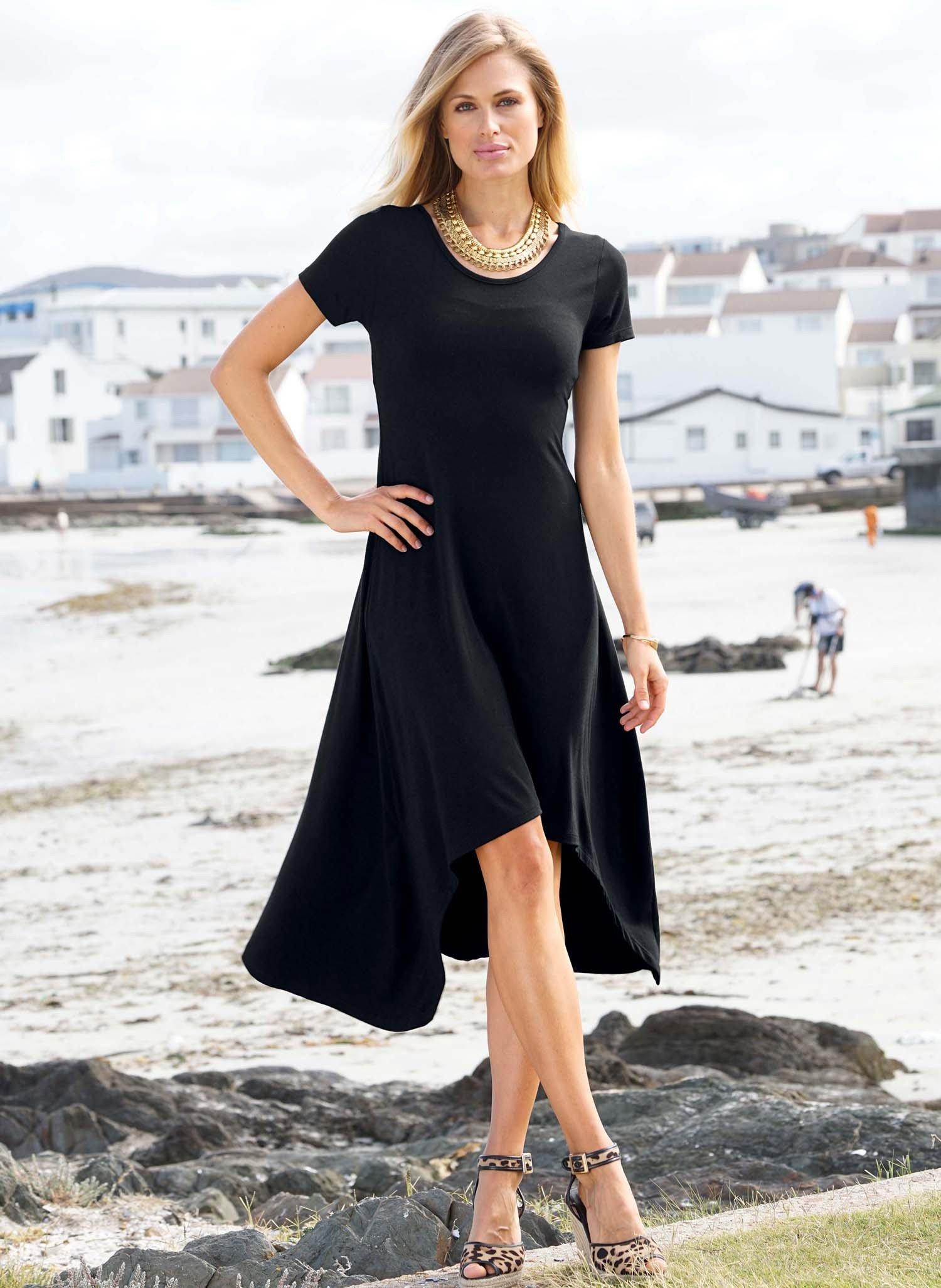 D-KA-Kleid,lange Form schwarz L 010 - 3 - Ronja.ch