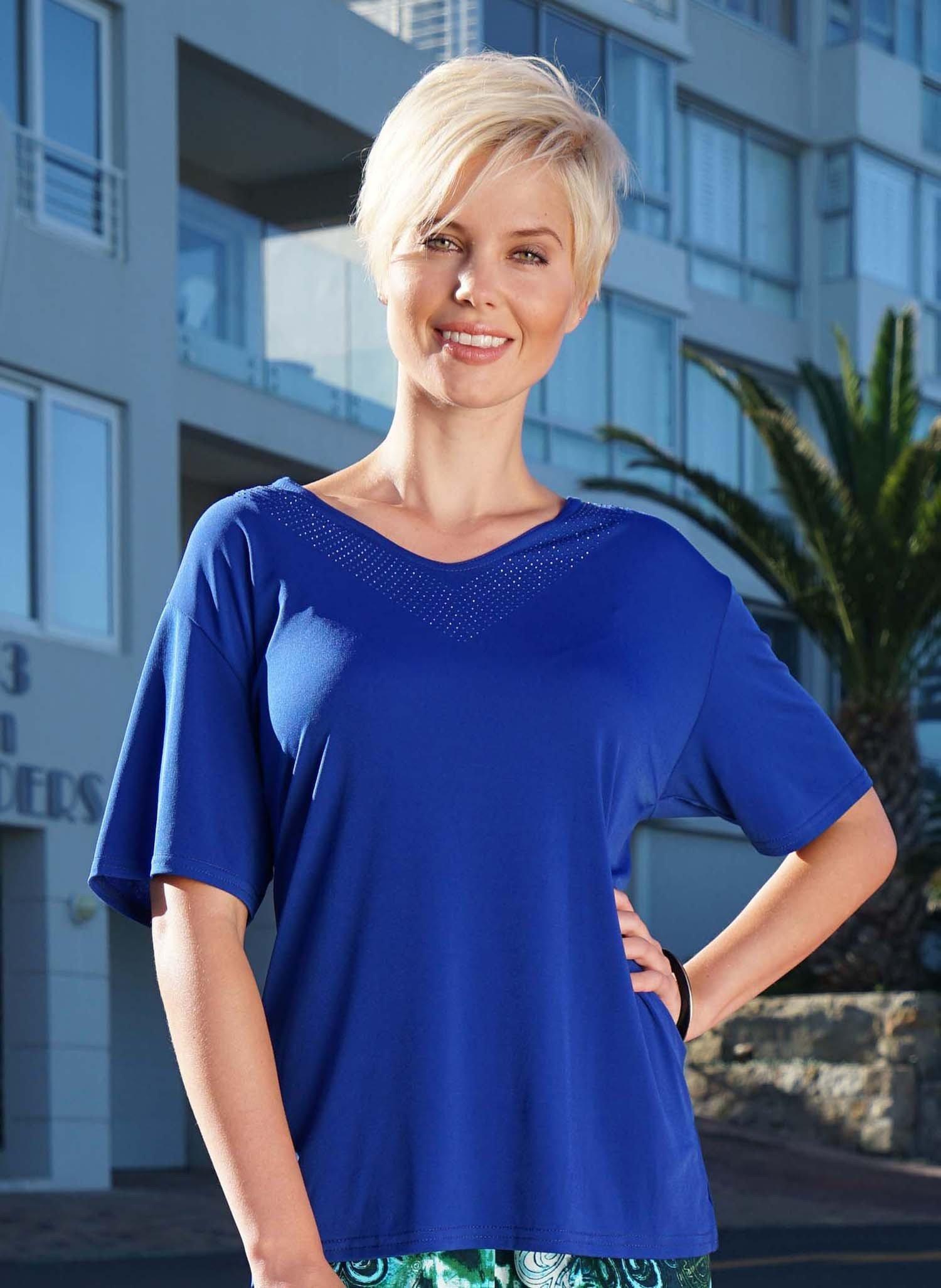 D-KA-Shirt,V-Ausschnitt k'blau L 052 - 1 - Ronja.ch