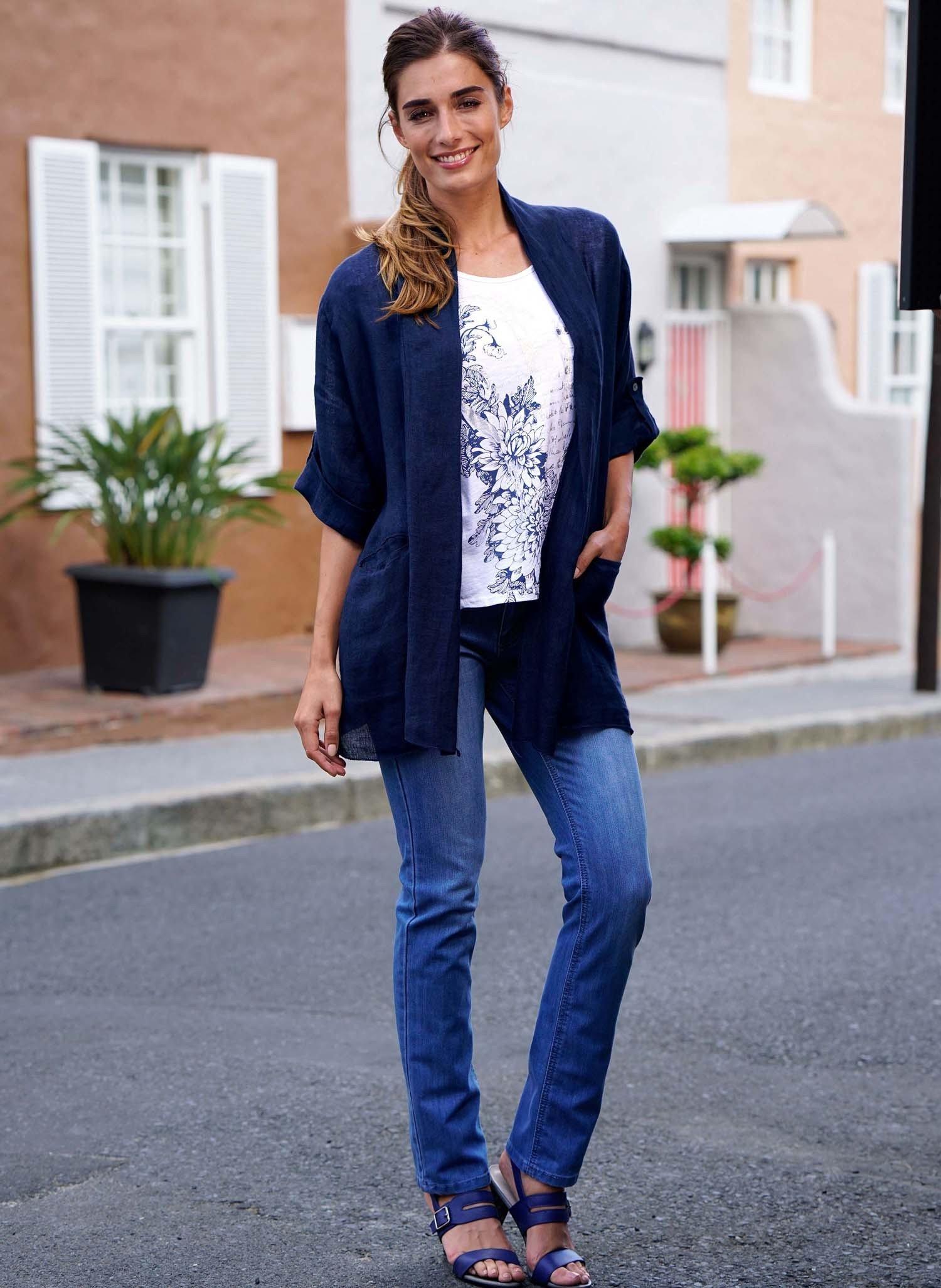 D-5P-Jeans,Ethno Blue Denim L 050 - 1 - Ronja.ch