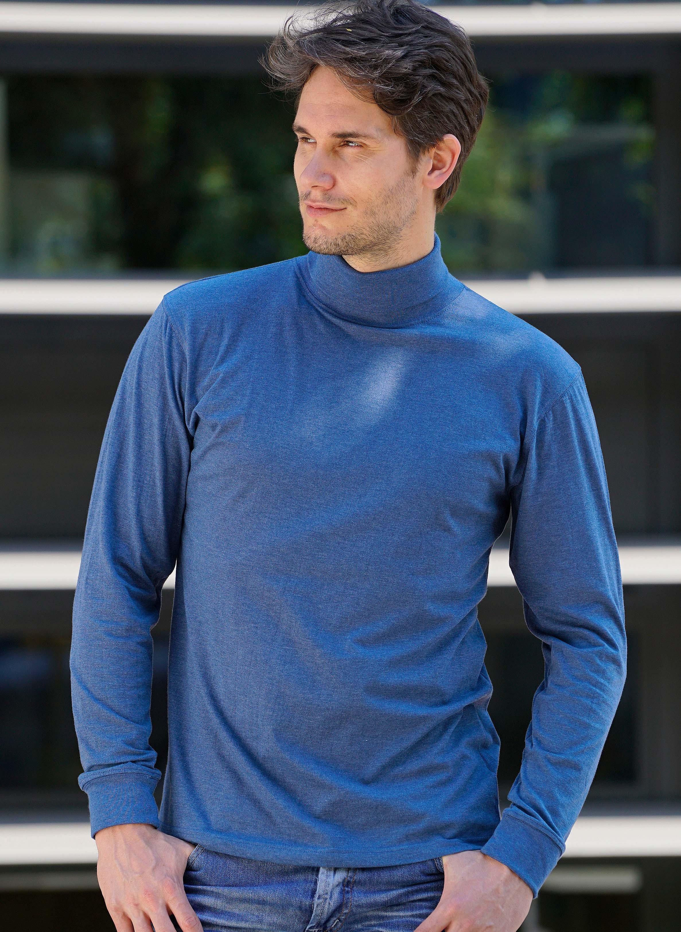 H-LA-Rolli-Shirt-indigo mel. L 366 - 1 - Ronja.ch