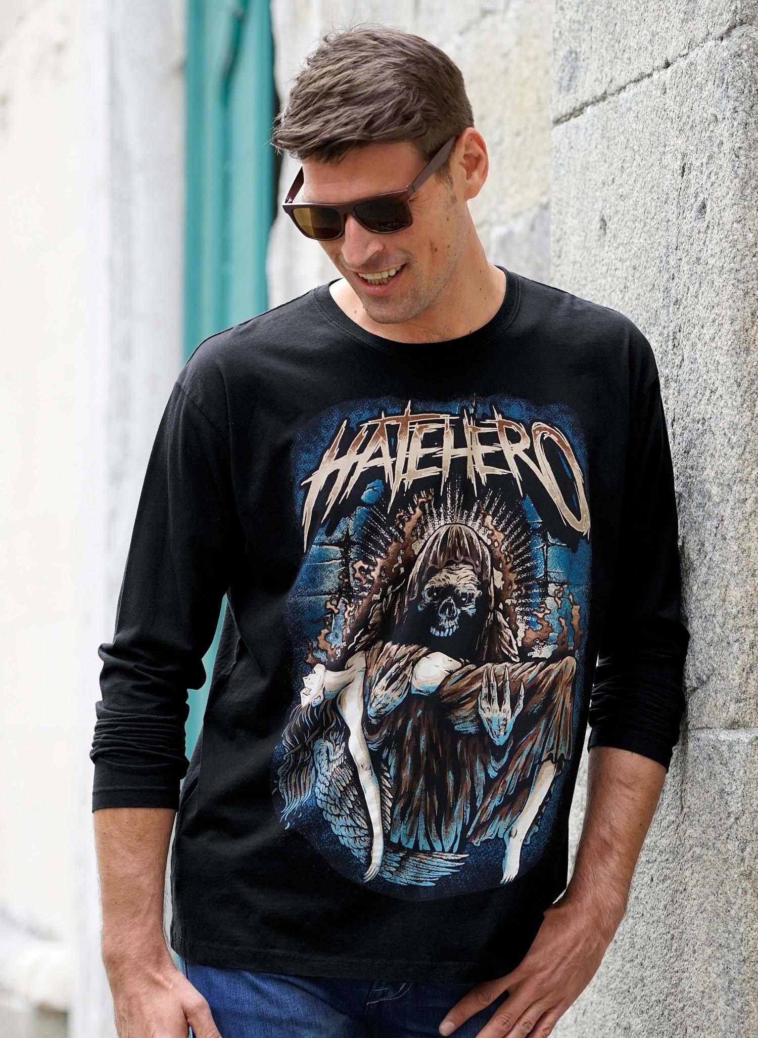 "H-LA-Shirt""HATEHERO"" schwarz L 010 - 1 - Ronja.ch"