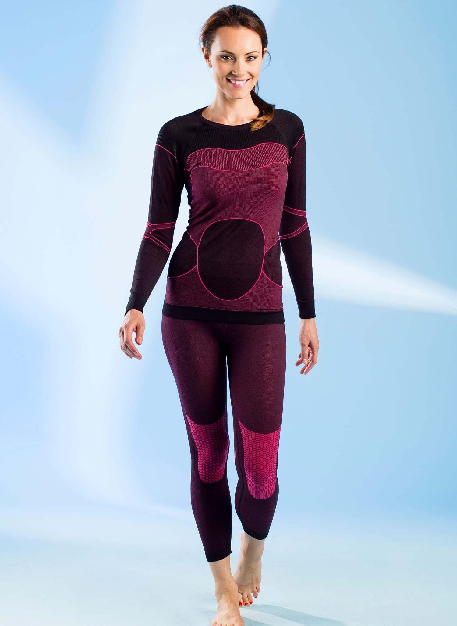 D-Pantalone-termico nero/pink