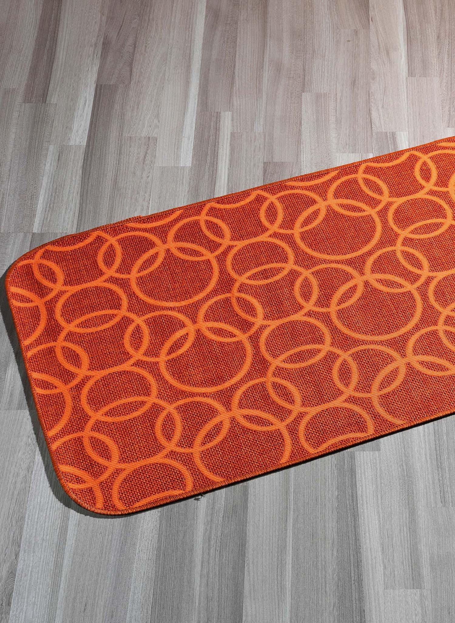 "Teppich""RINGE""orange 57x115 - 1 - Ronja.ch"