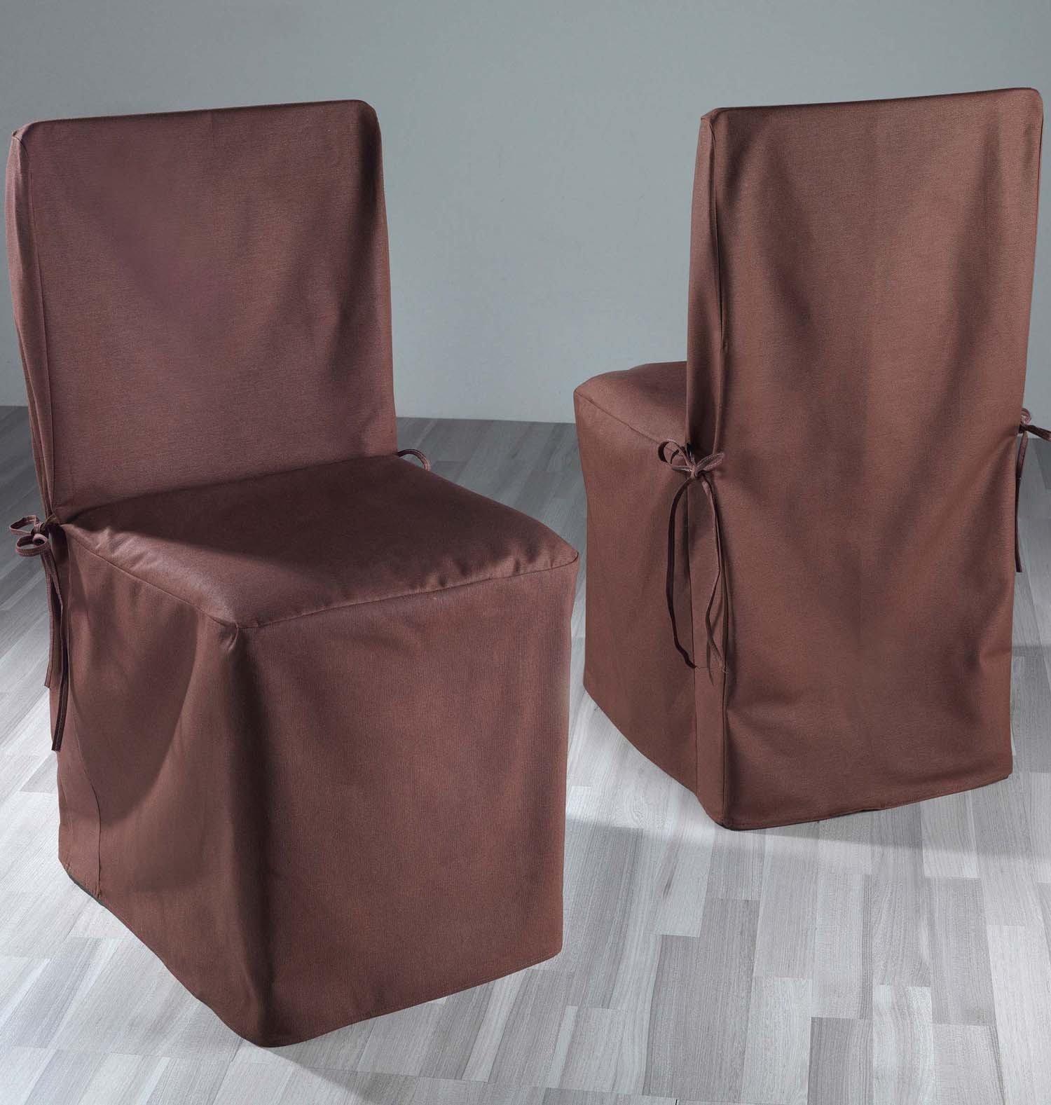 Copri-sedia,2 pz. marrone