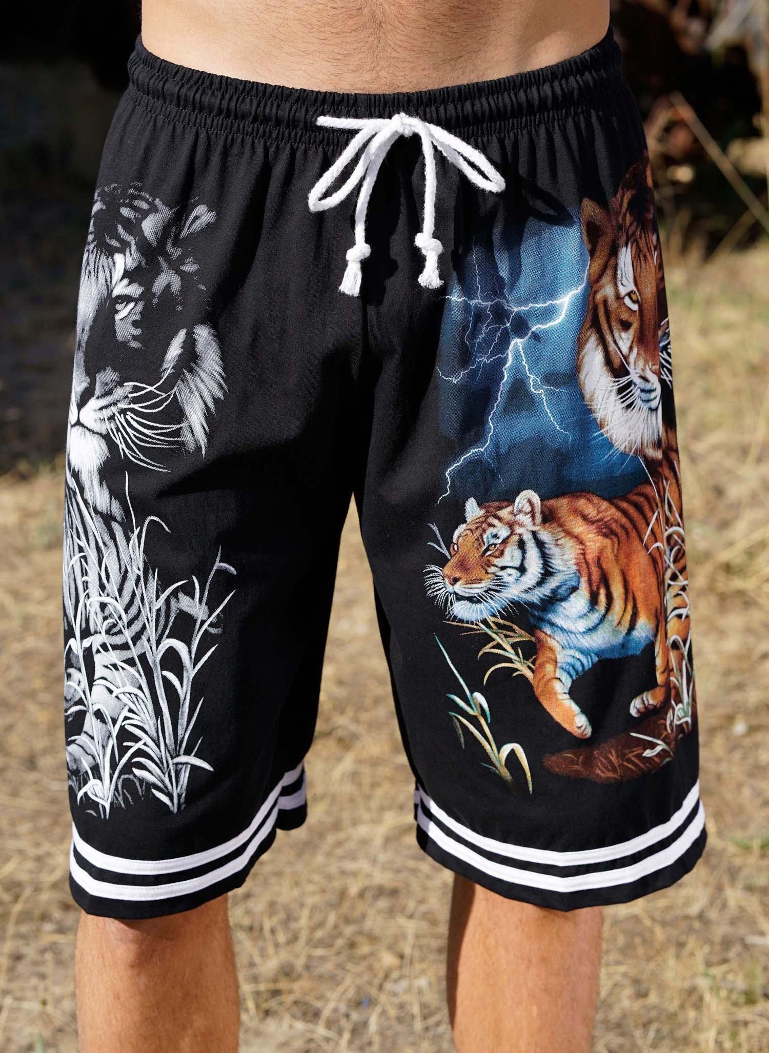 "H-Bermuda-Shorts""Tiger""schwarz L 010 - 1 - Ronja.ch"