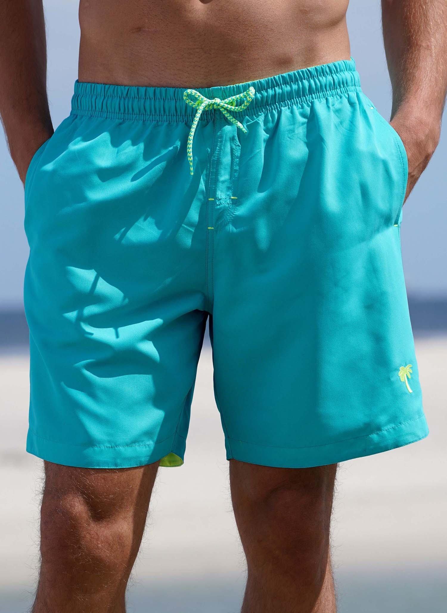 """H-Bade-Shorts """"NEON"""" smaragd L 033 - 3 - Ronja.ch"""
