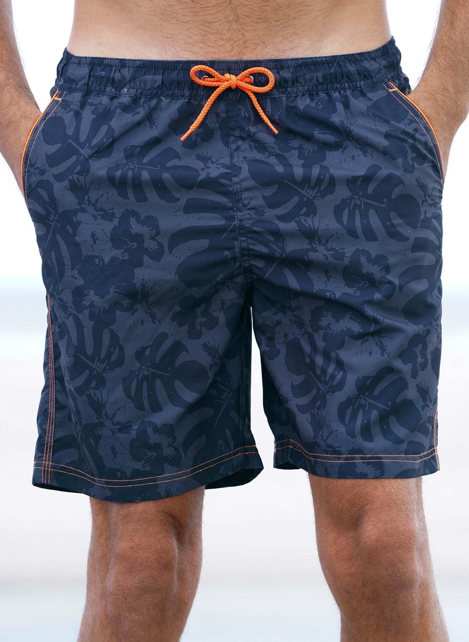 H-Bade-Shorts,Blatter, marine L 010 - 1 - Ronja.ch