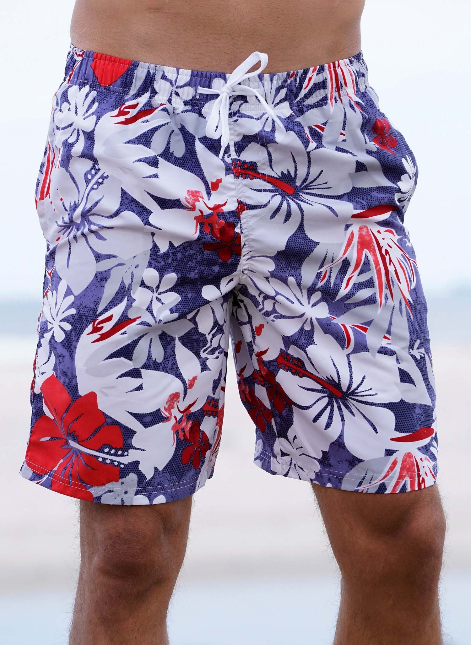 "H-Bade-Shorts,""HAWAII"" Floral L 421 - 1 - Ronja.ch"