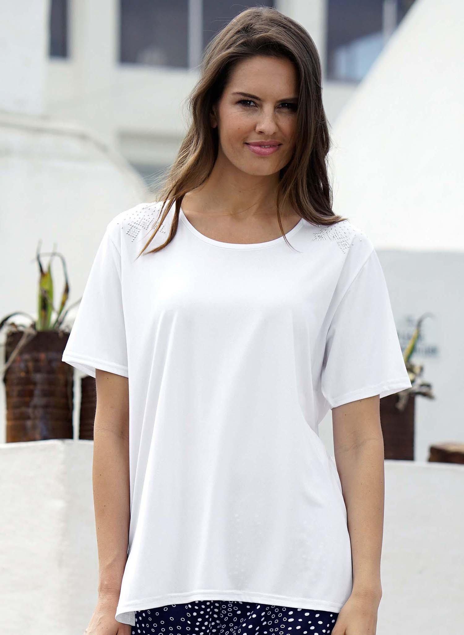 D-KA-Shirt,Strass-Steine.weiss L 001 - 1 - Ronja.ch