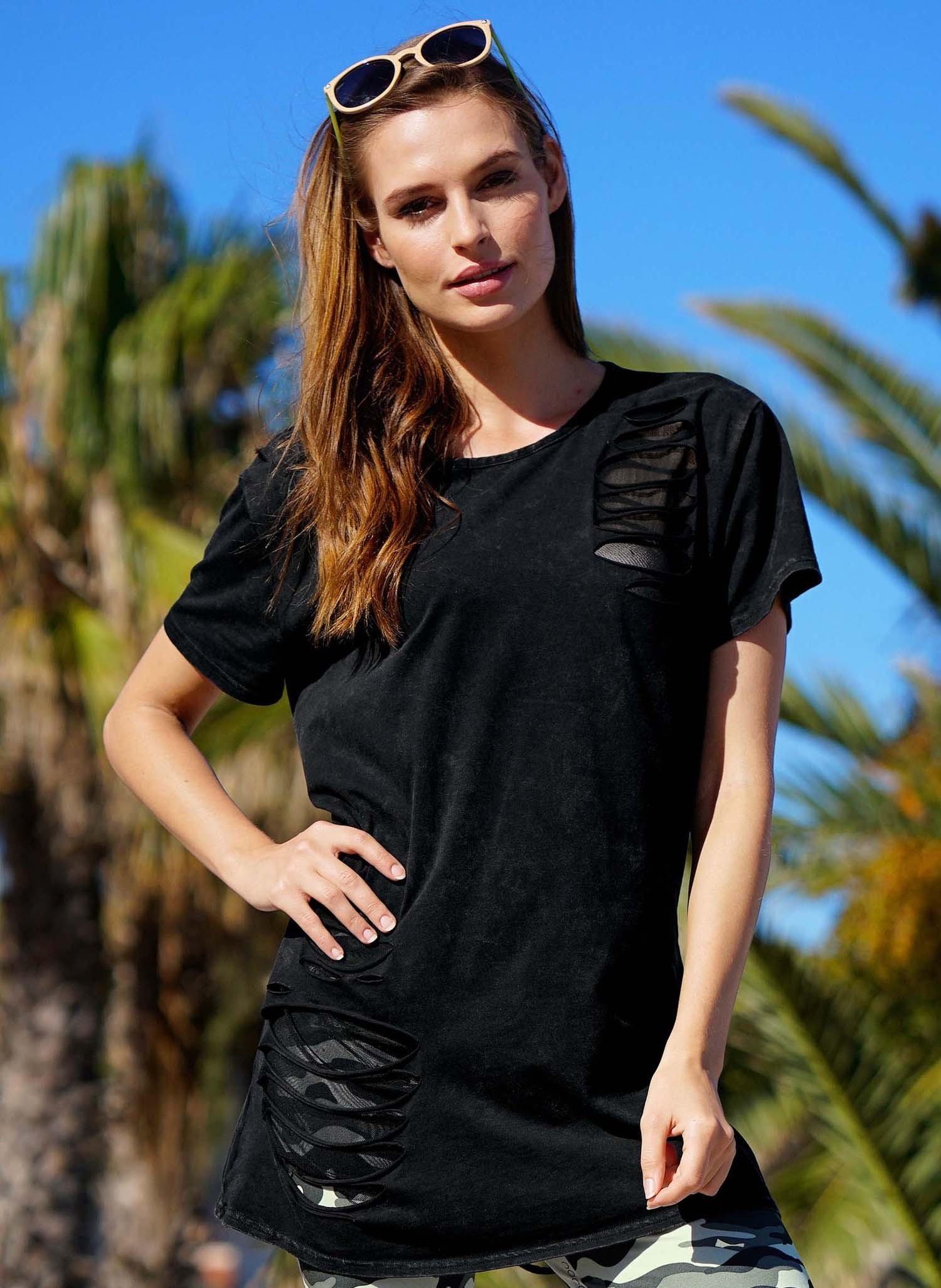 D-KA-Shirt,Loch-App.schwarz L 010 - 1 - Ronja.ch