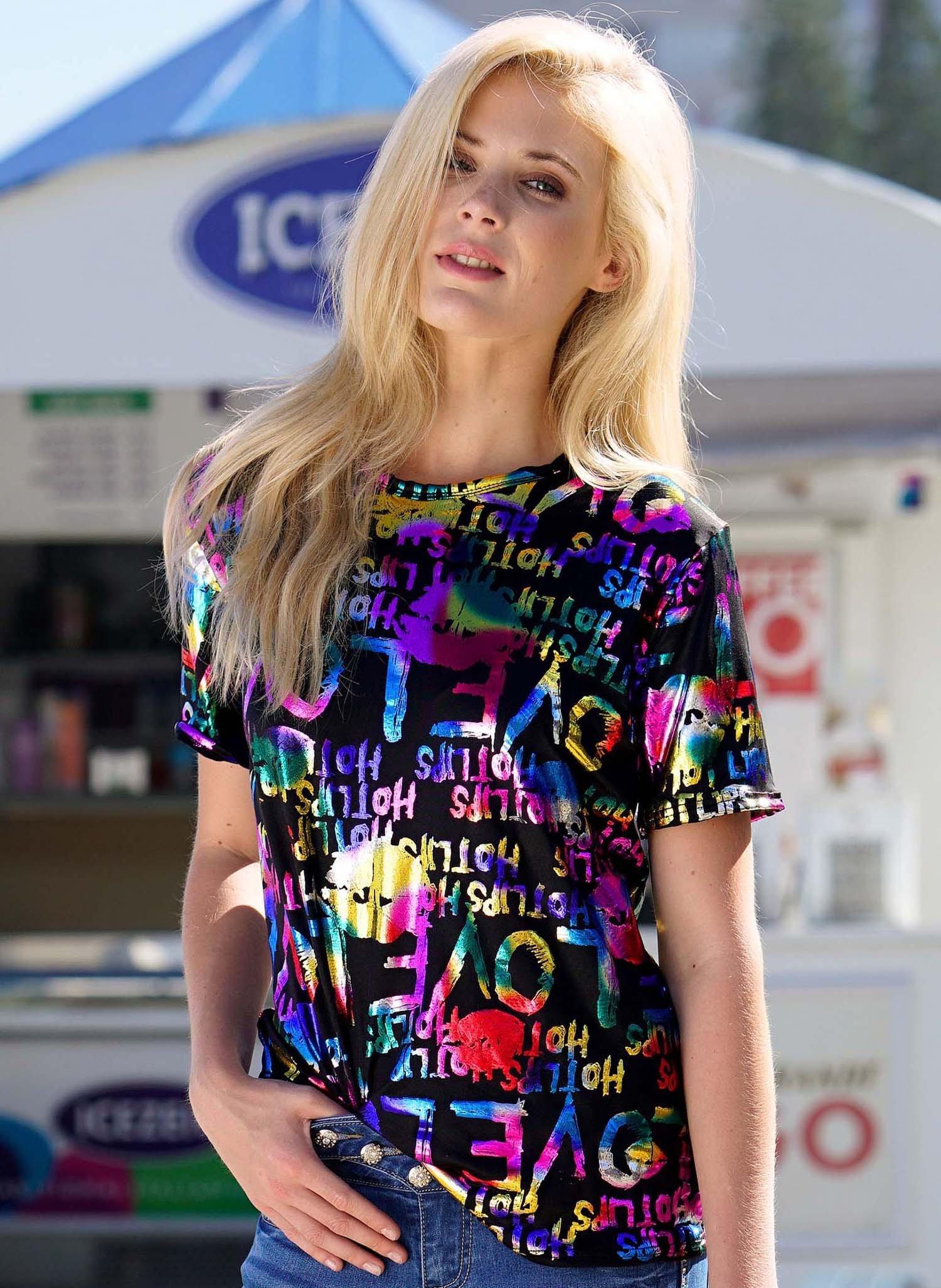 D-KA-Shirt,Glitzer-Pr.multicol L 058 - 1 - Ronja.ch