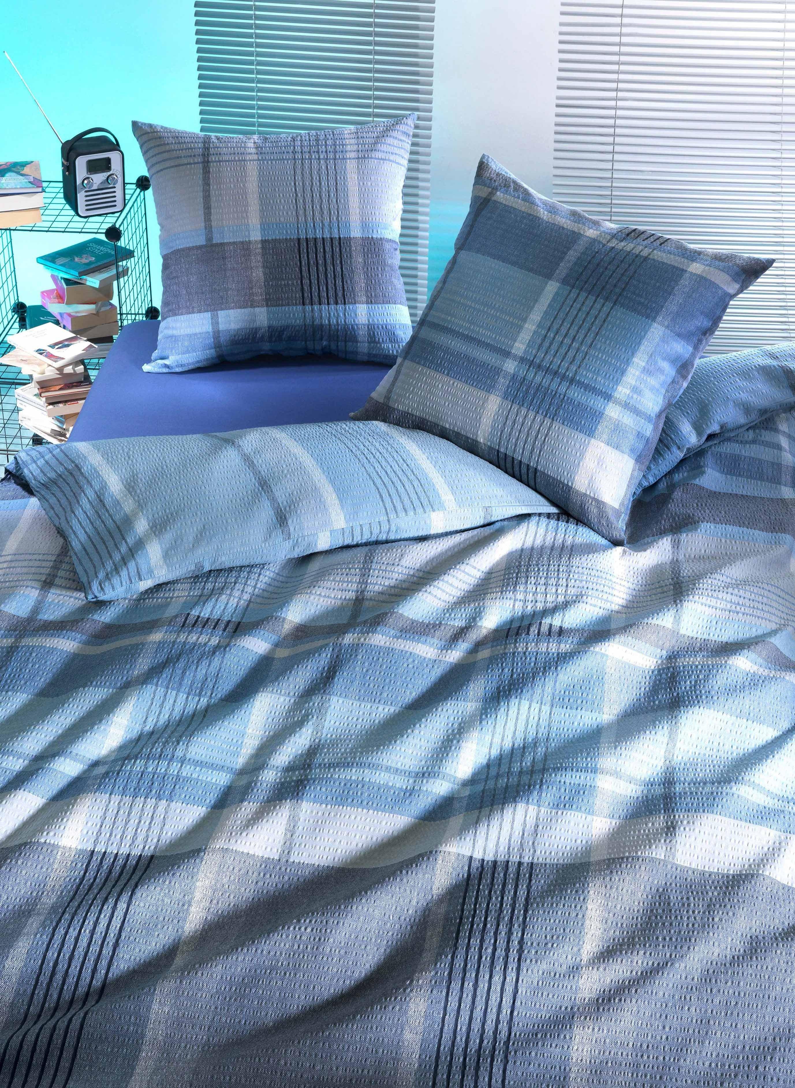 "Biancheria da letto in seersucker  ""ISLAND"""