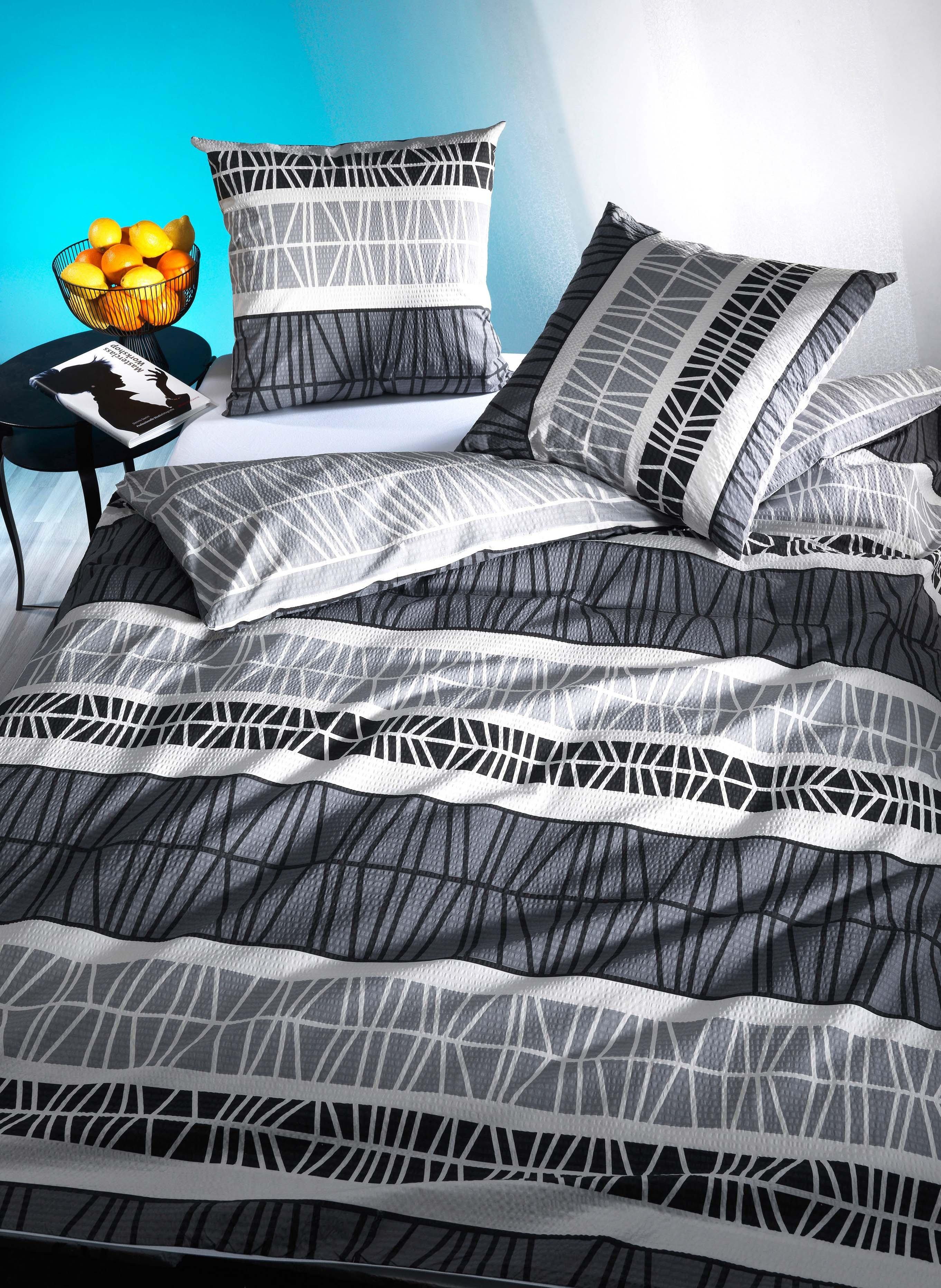"""Biancheria da letto in seersucker """"FLUX"""""""