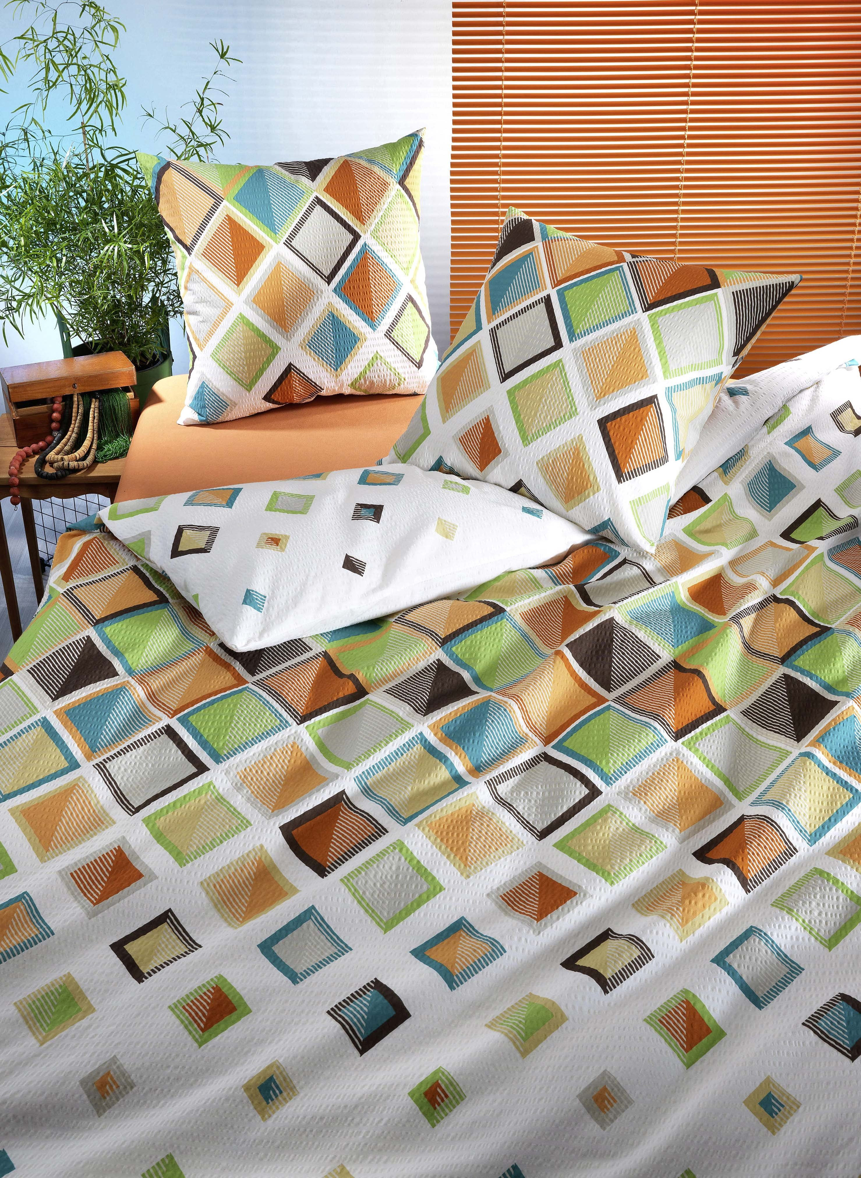 Biancheria da letto in seersucker  «JEANNETTE»